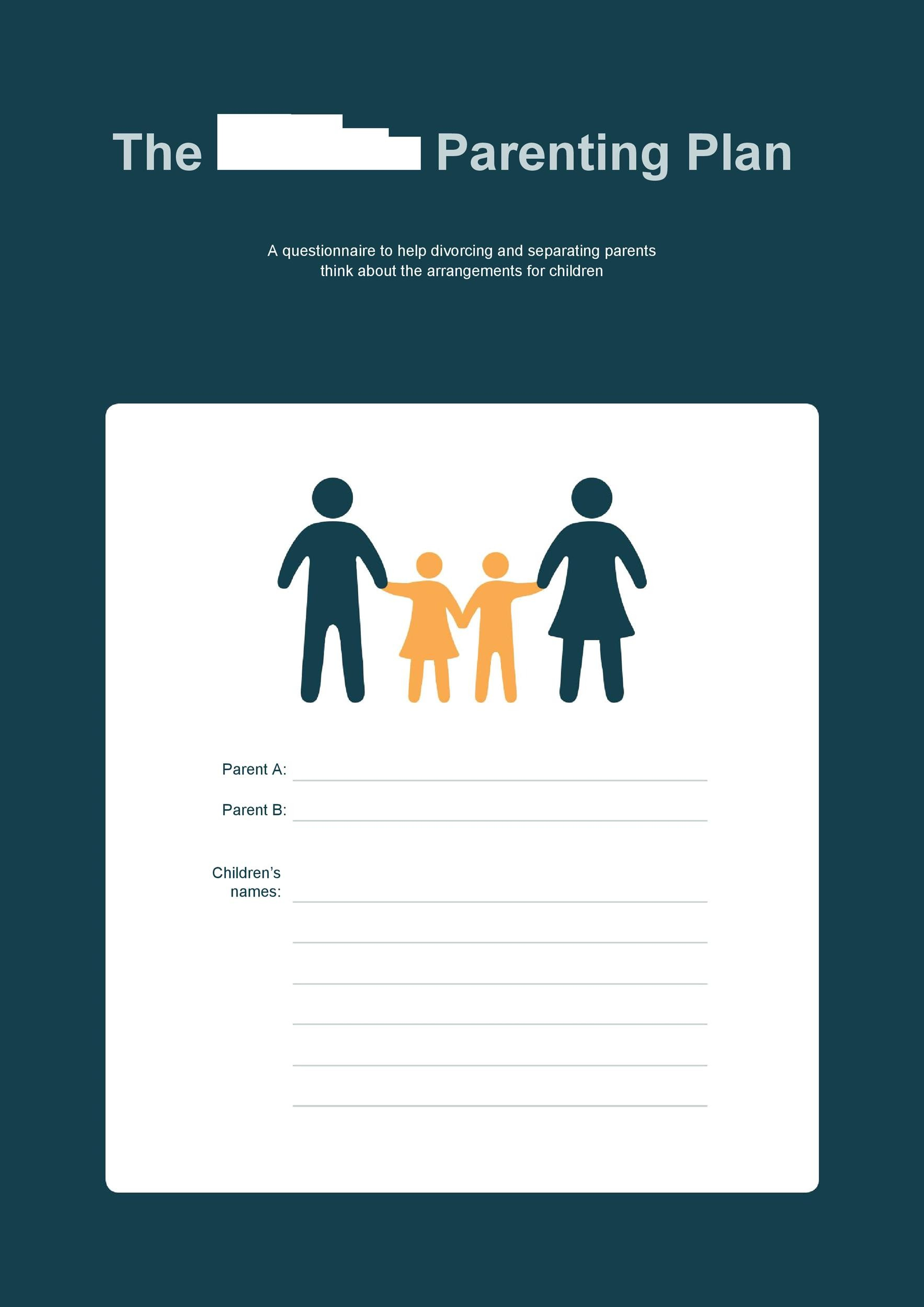Free parenting plan template 12