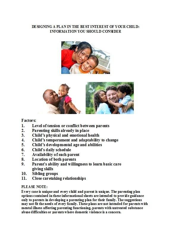 Free parenting plan template 17