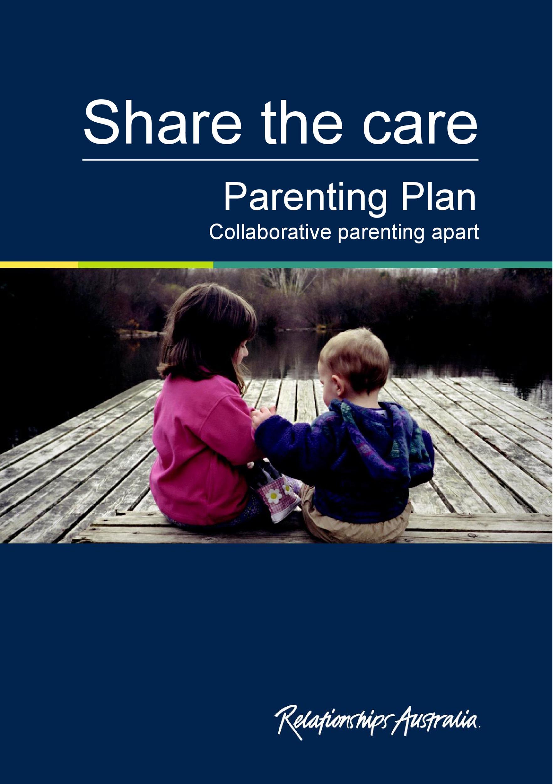 Free parenting plan template 20