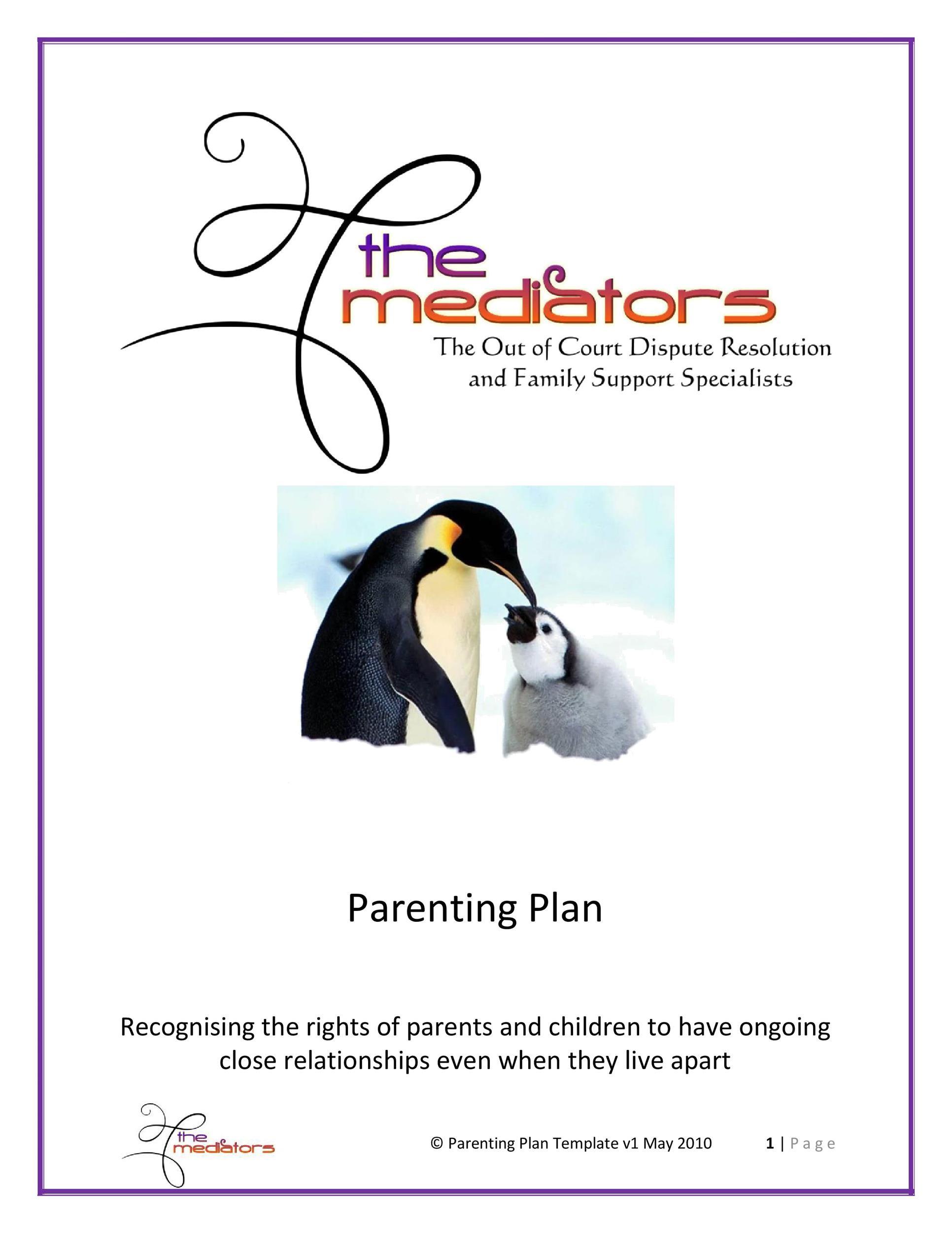 Free parenting plan template 38