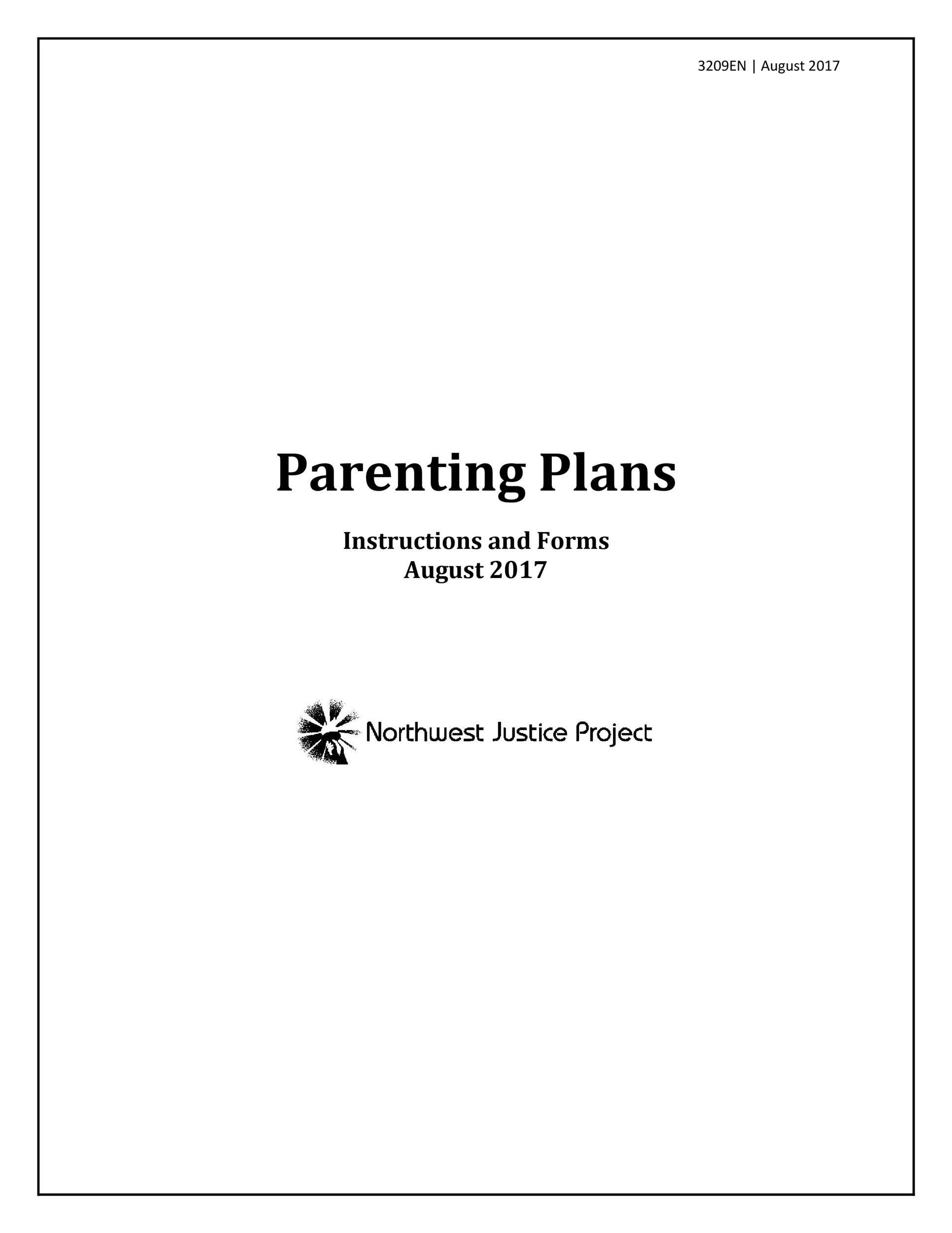 Free parenting plan template 42