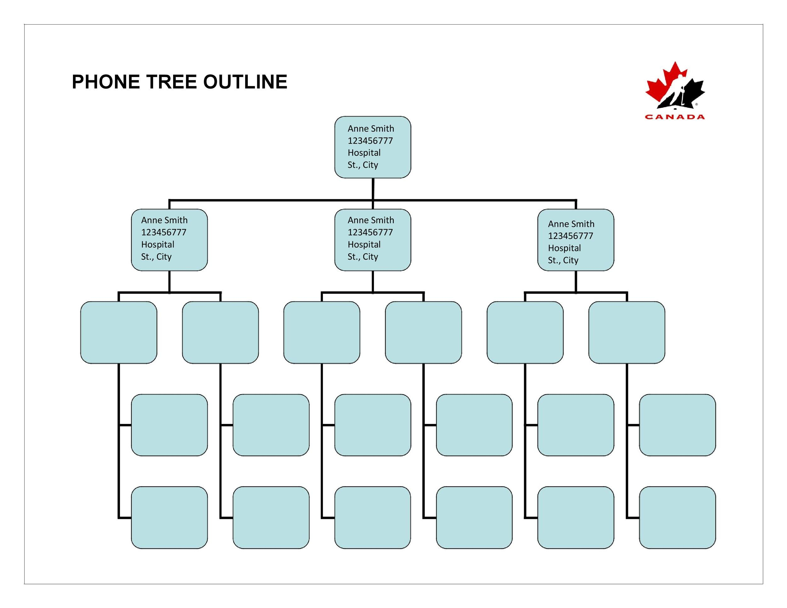 Free phone tree template 08