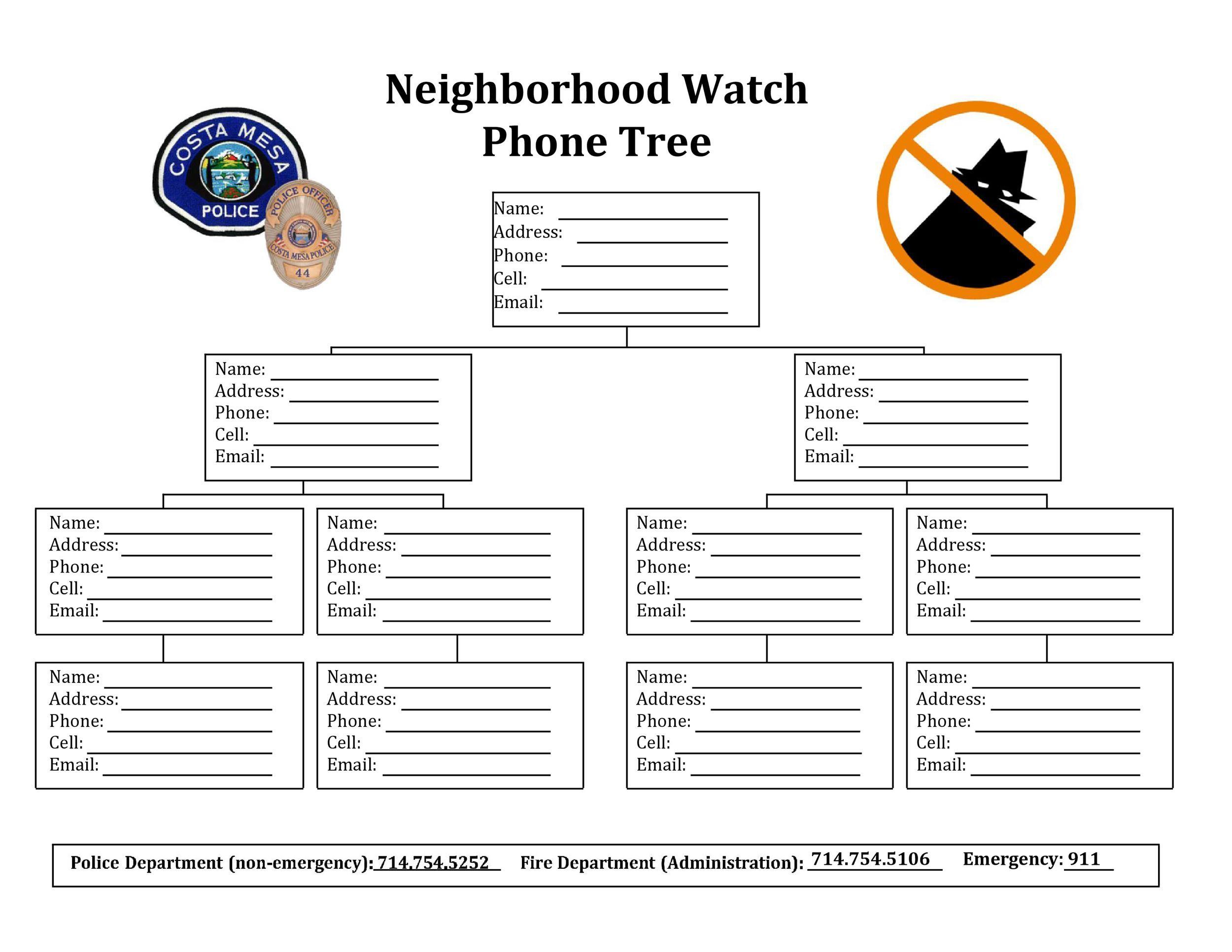 Free phone tree template 24