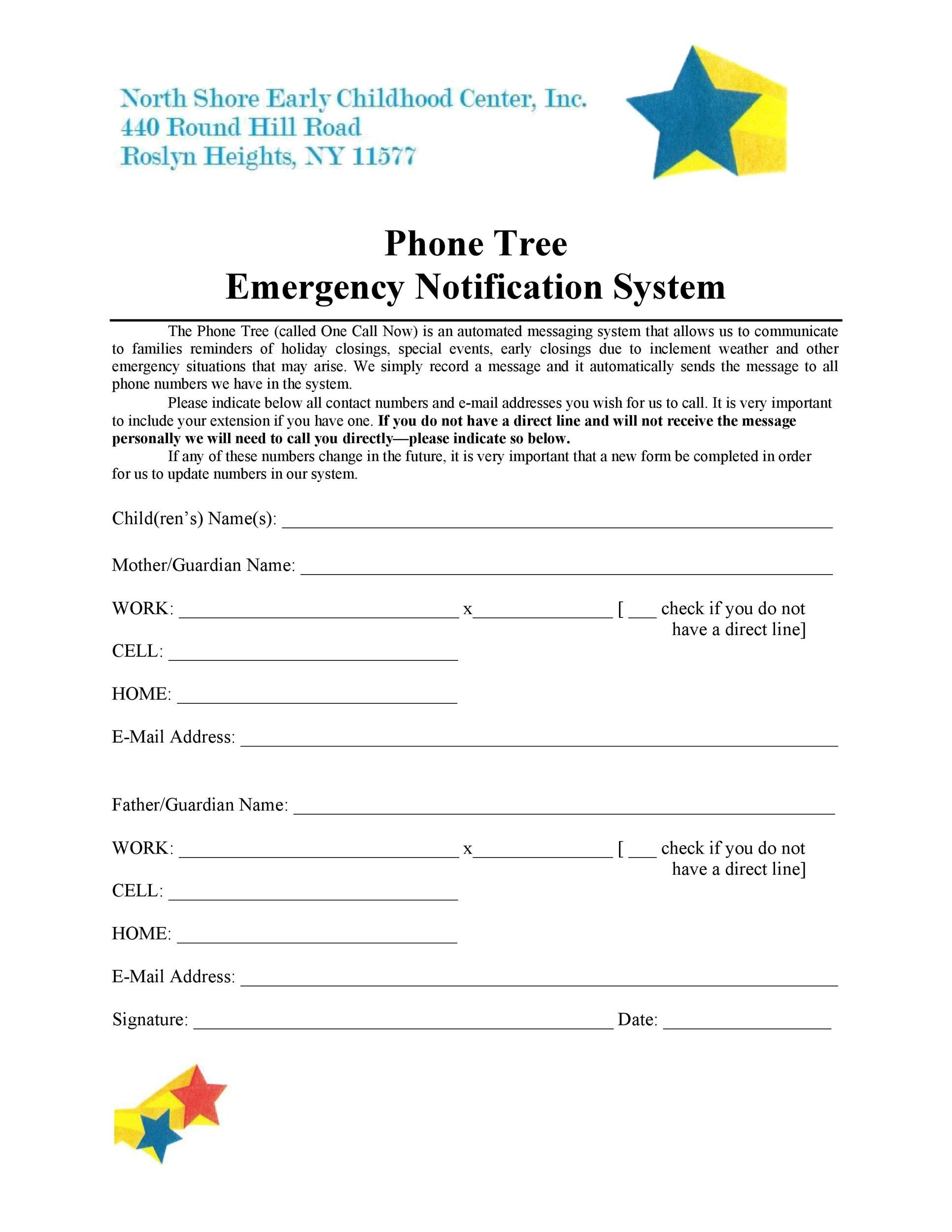 Free phone tree template 26