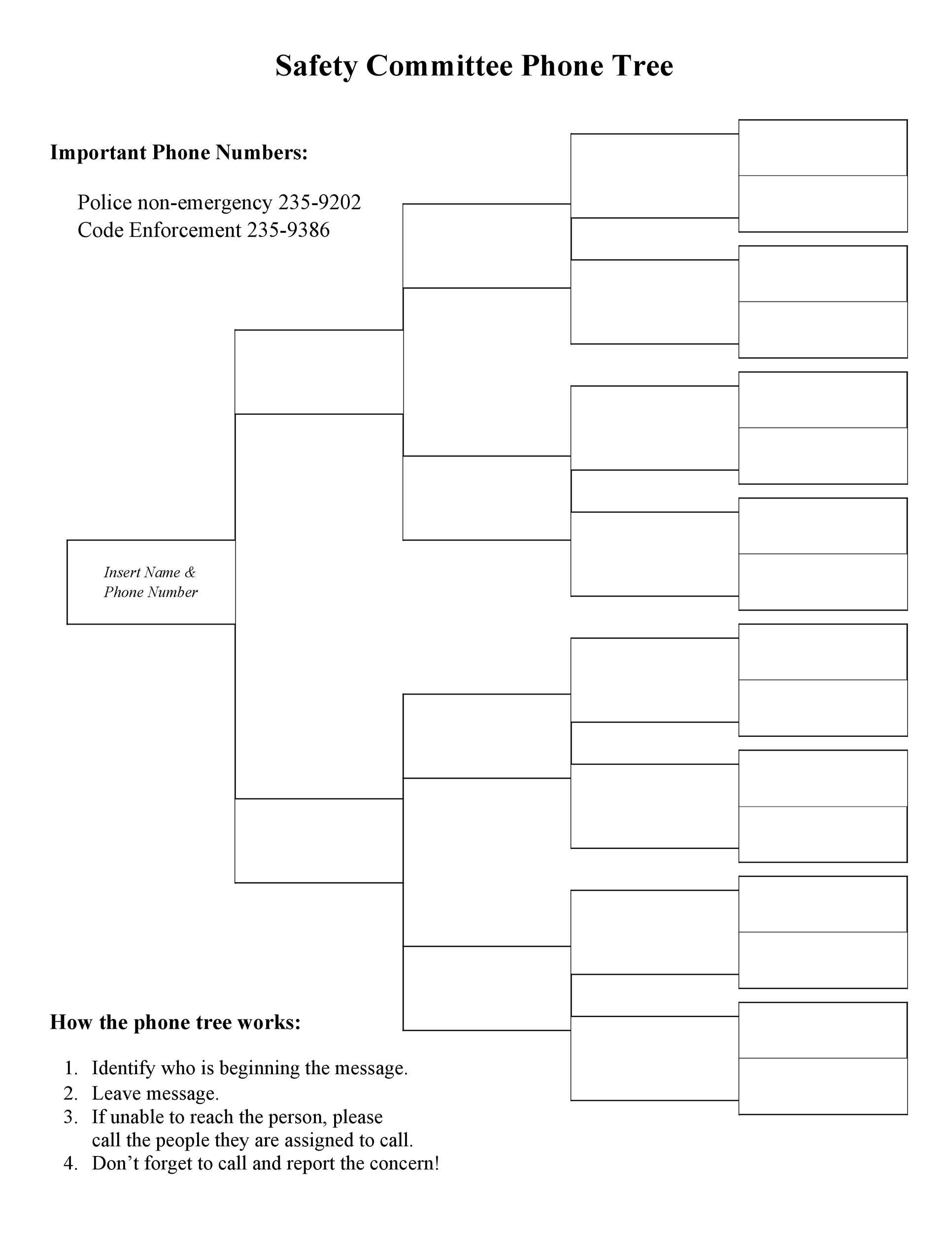 Free phone tree template 27