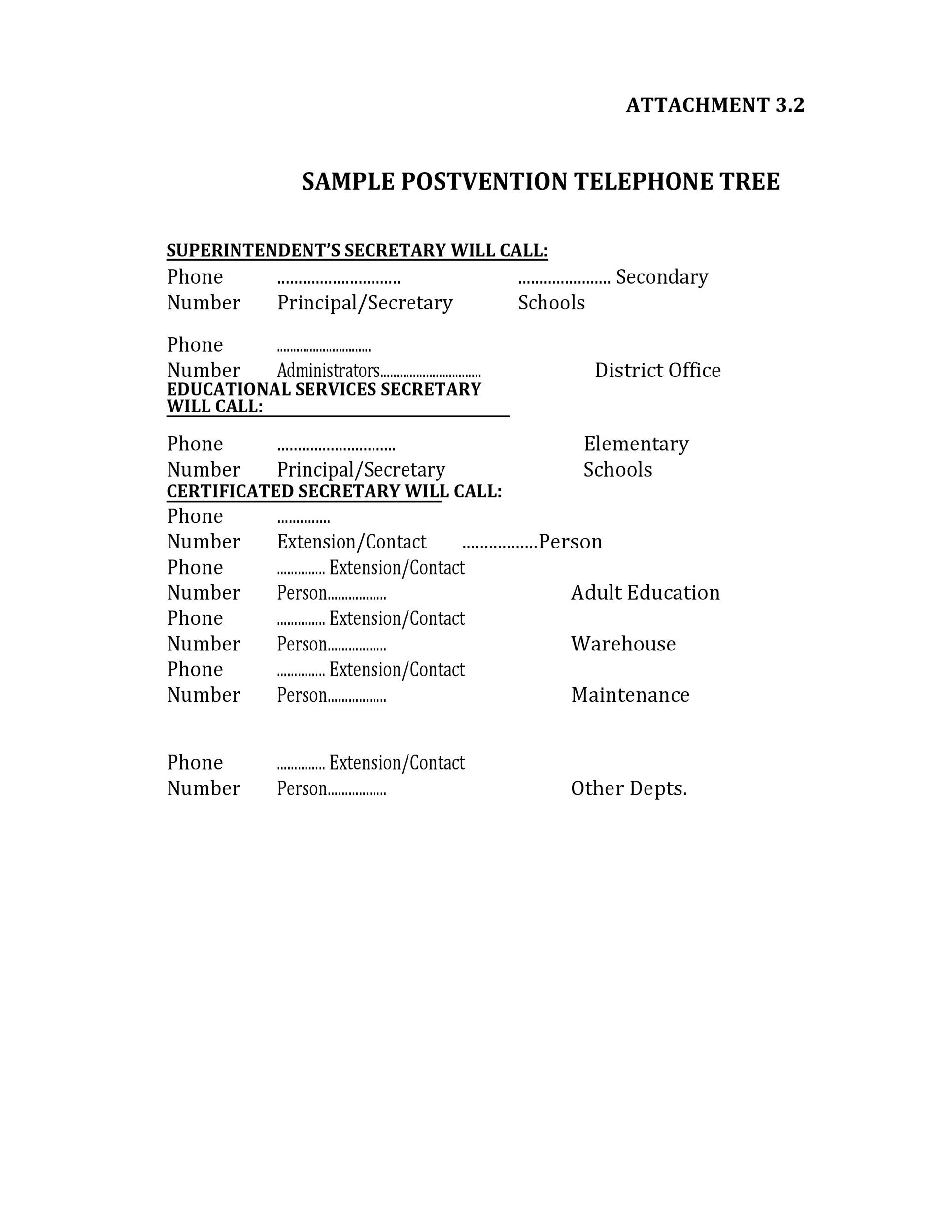 Free phone tree template 32