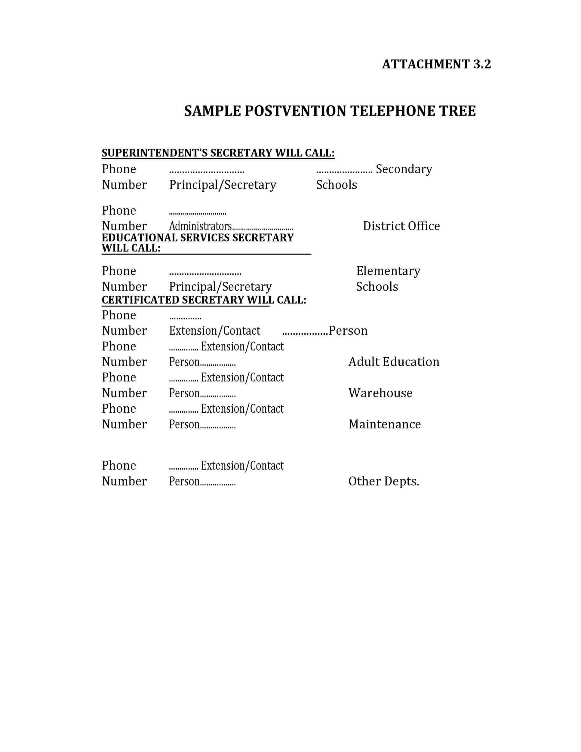 Free phone tree template 32