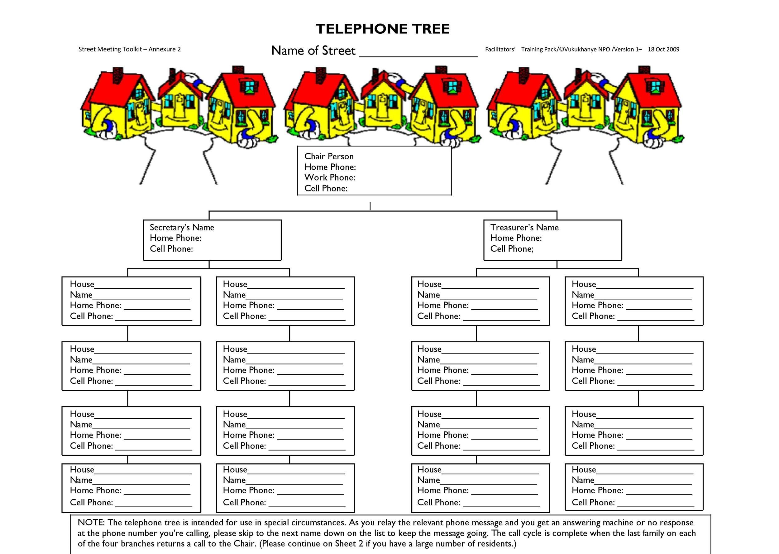 Free phone tree template 37