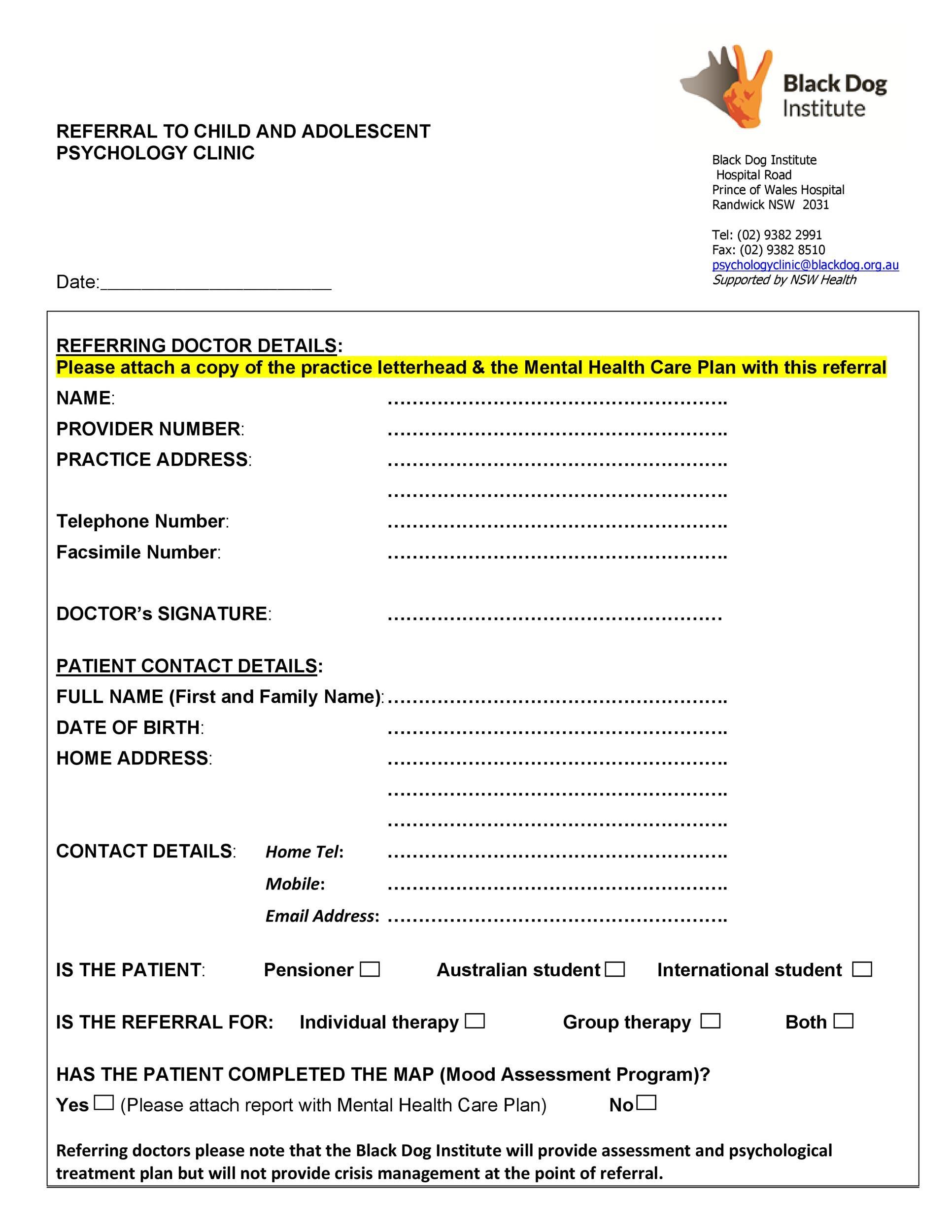 Free referral form template 07