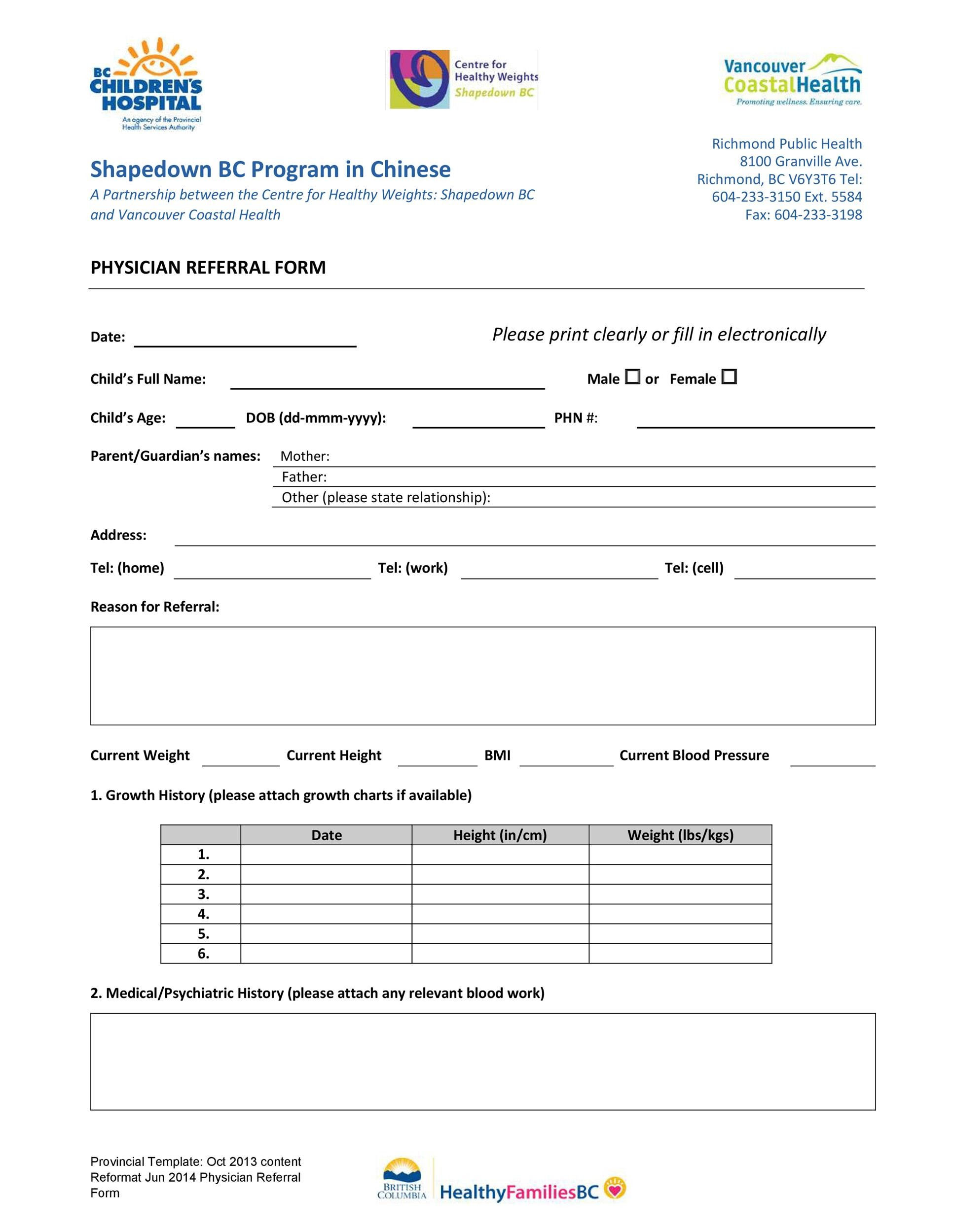 Free referral form template 30