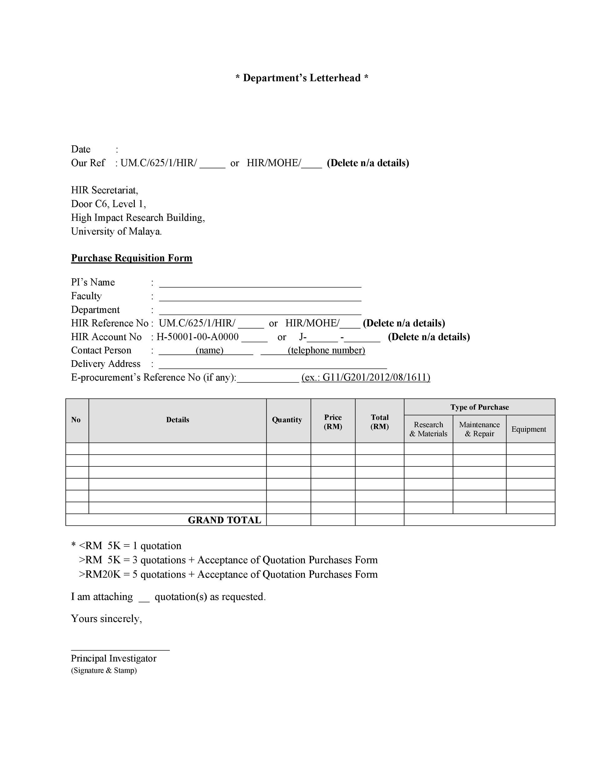 Free requisition form 05