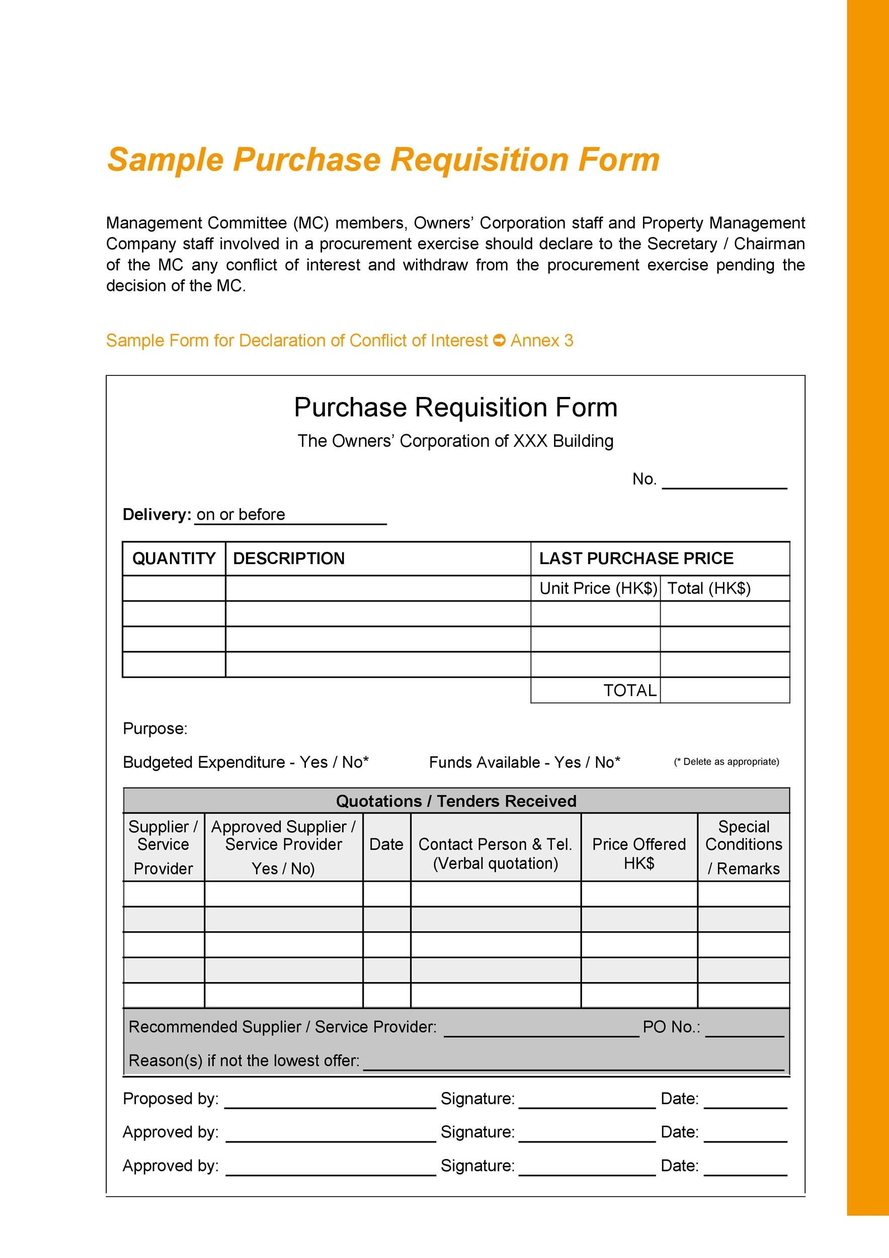 Free requisition form 06