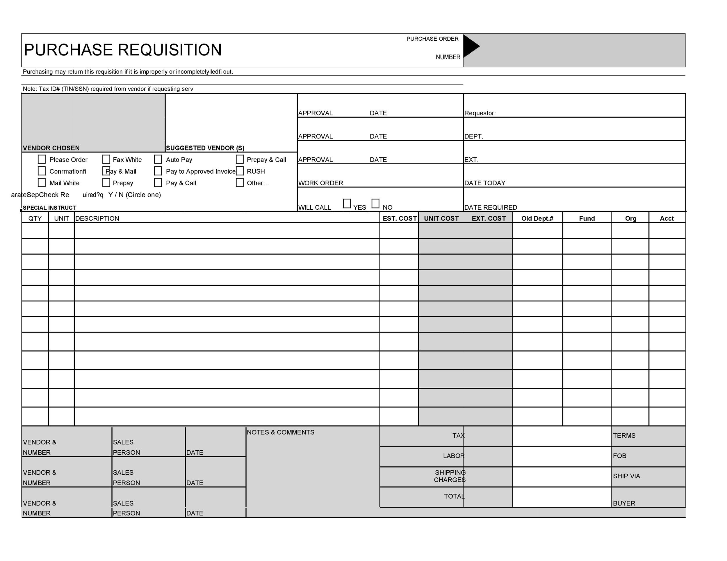 Free requisition form 11