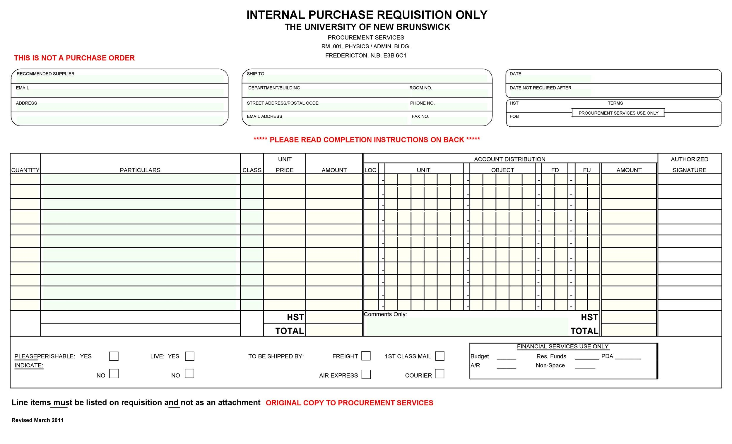 Free requisition form 15
