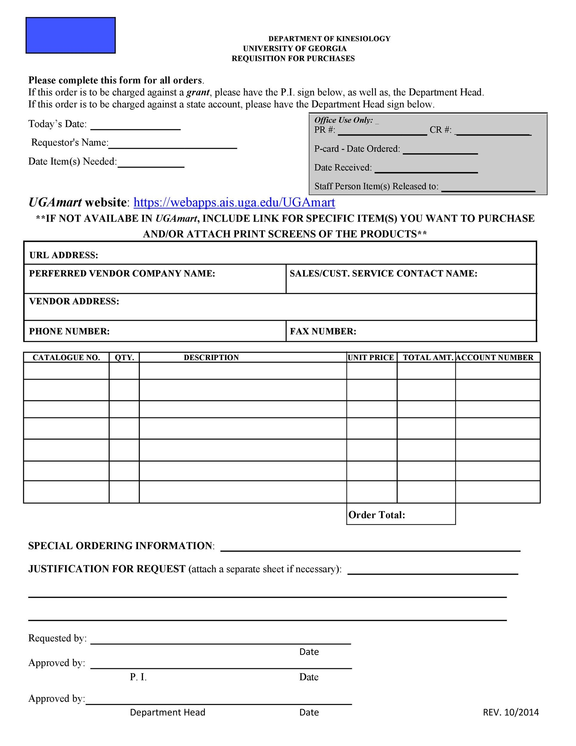 Free requisition form 17