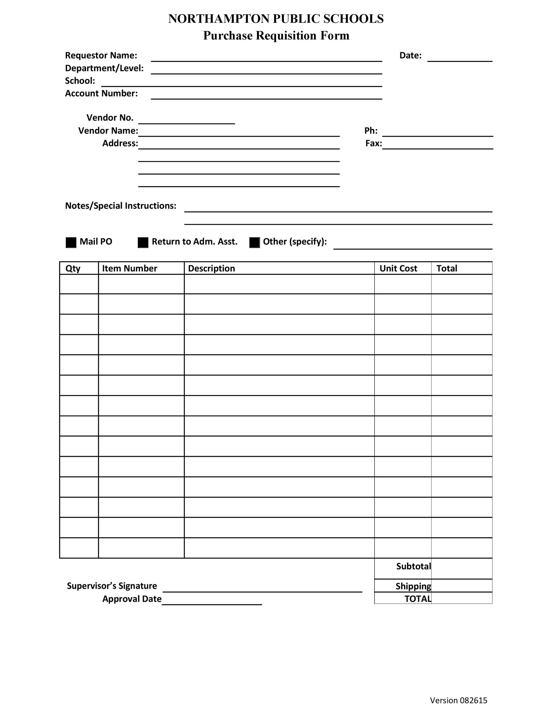 Free requisition form 18