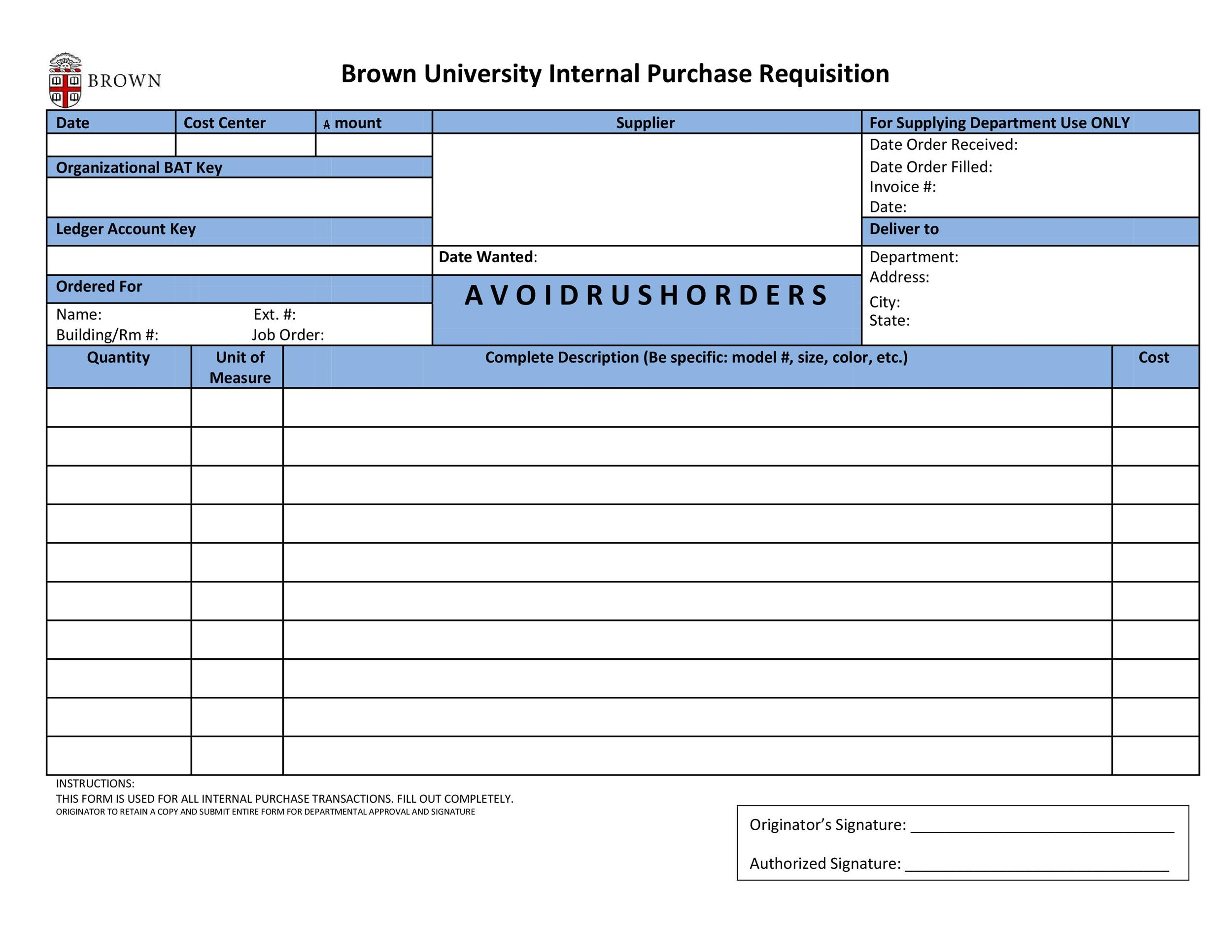 Free requisition form 24