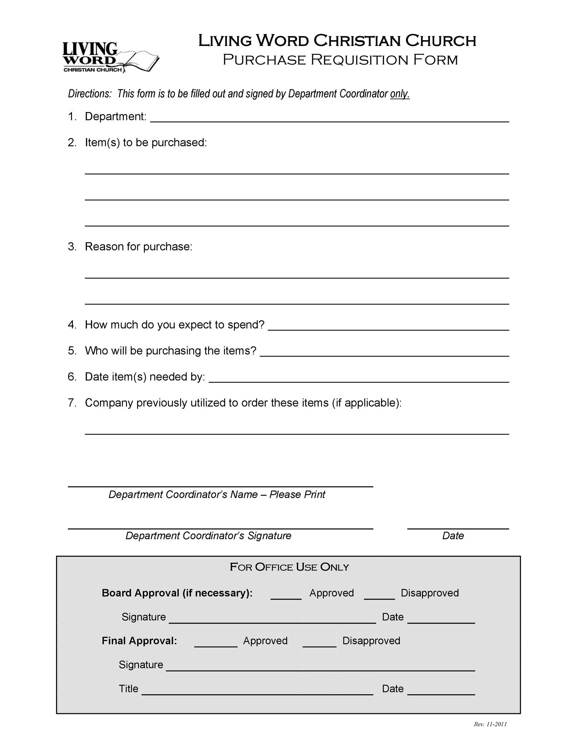 Free requisition form 26