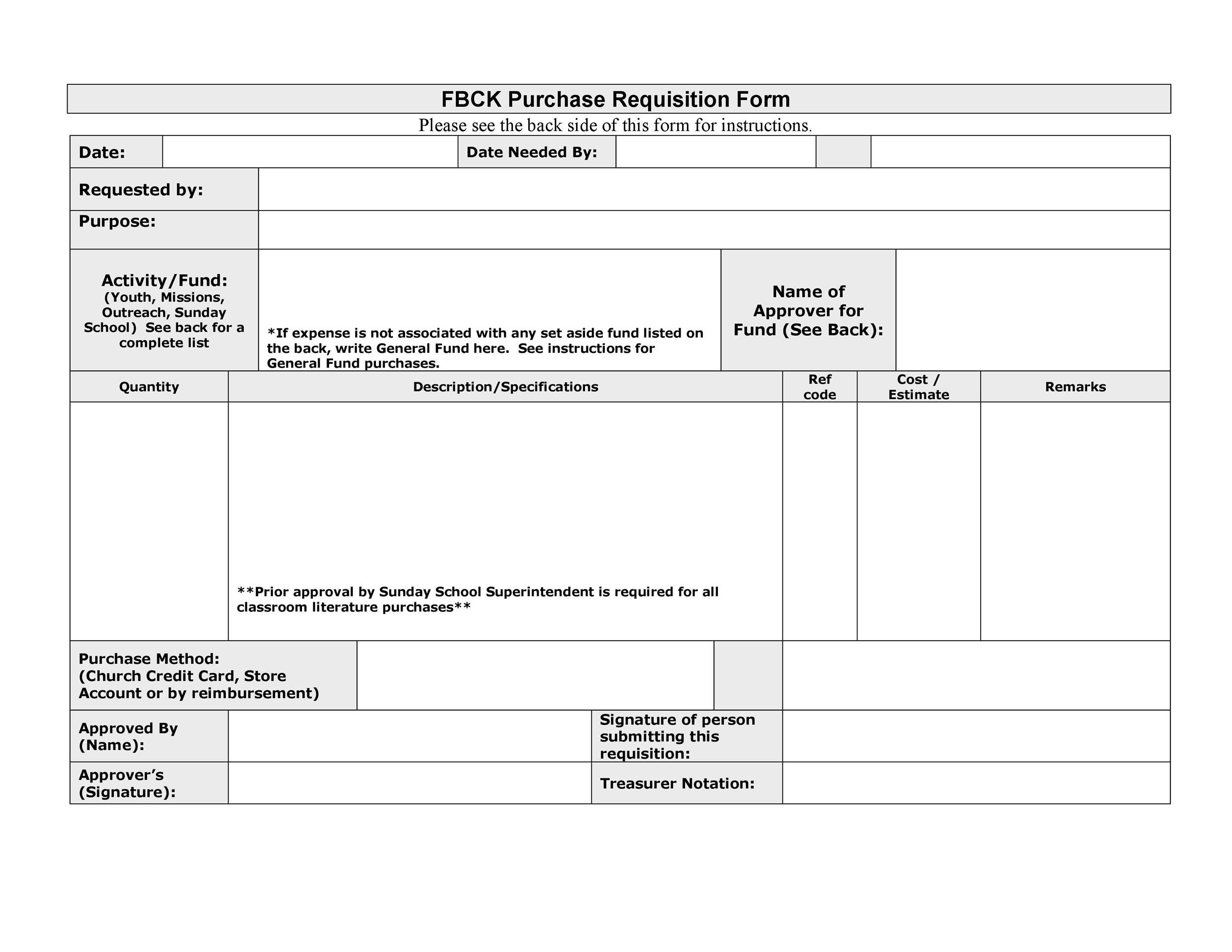Free requisition form 29