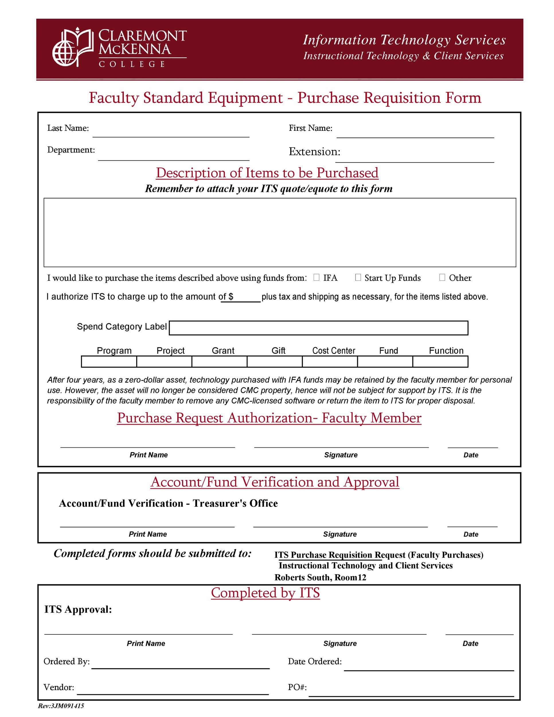 Free requisition form 34