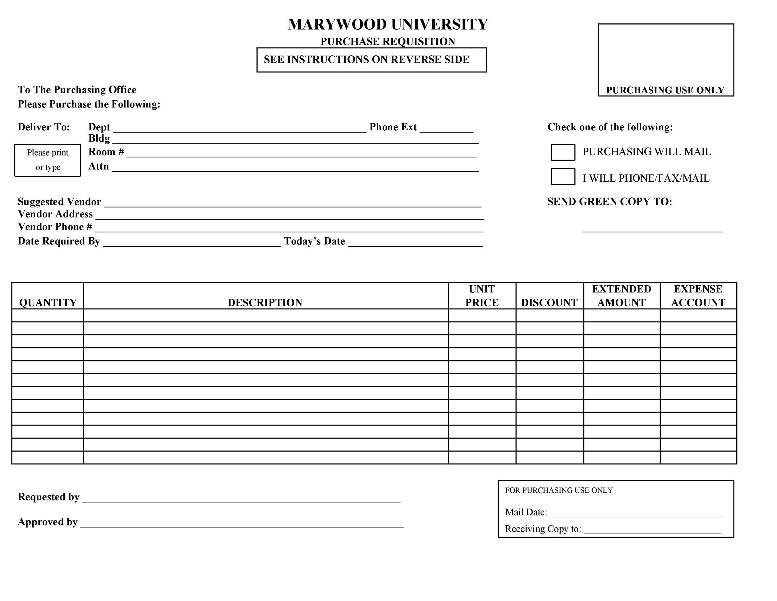 Free requisition form 35