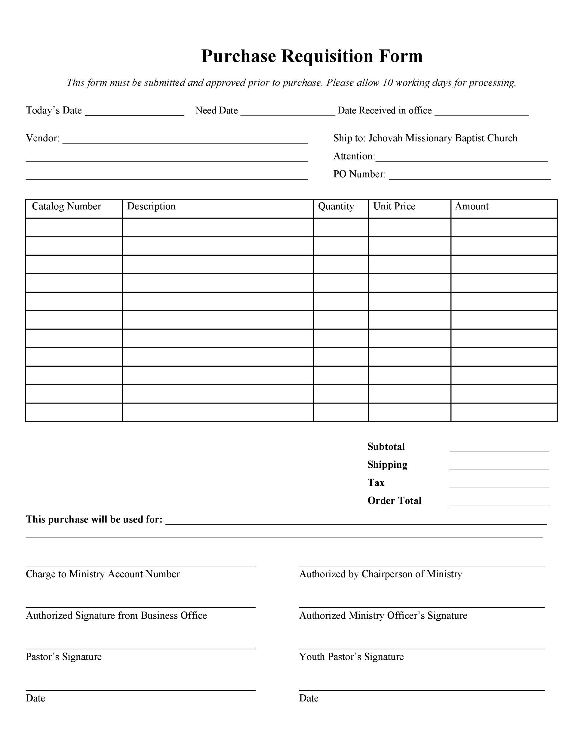 Free requisition form 36