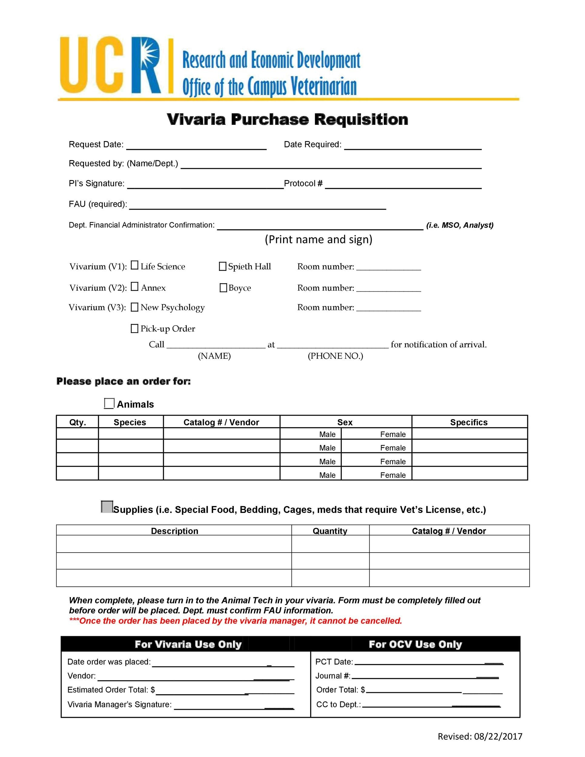 Free requisition form 39