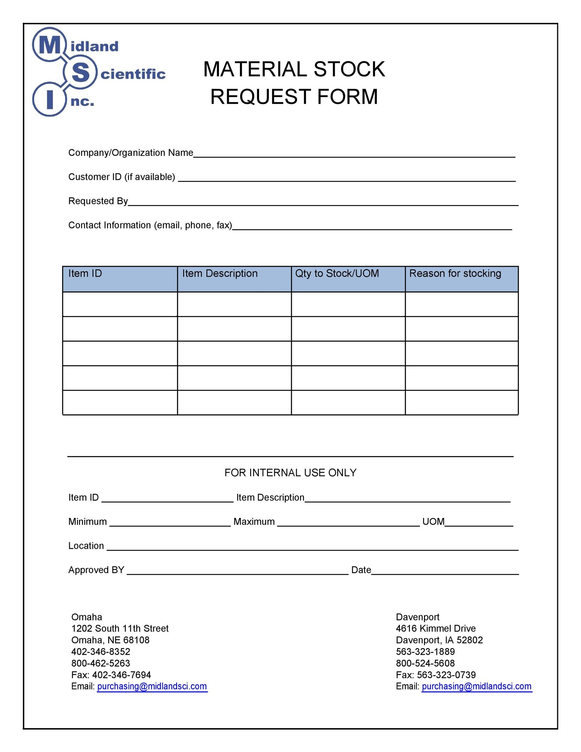 Free requisition form 43