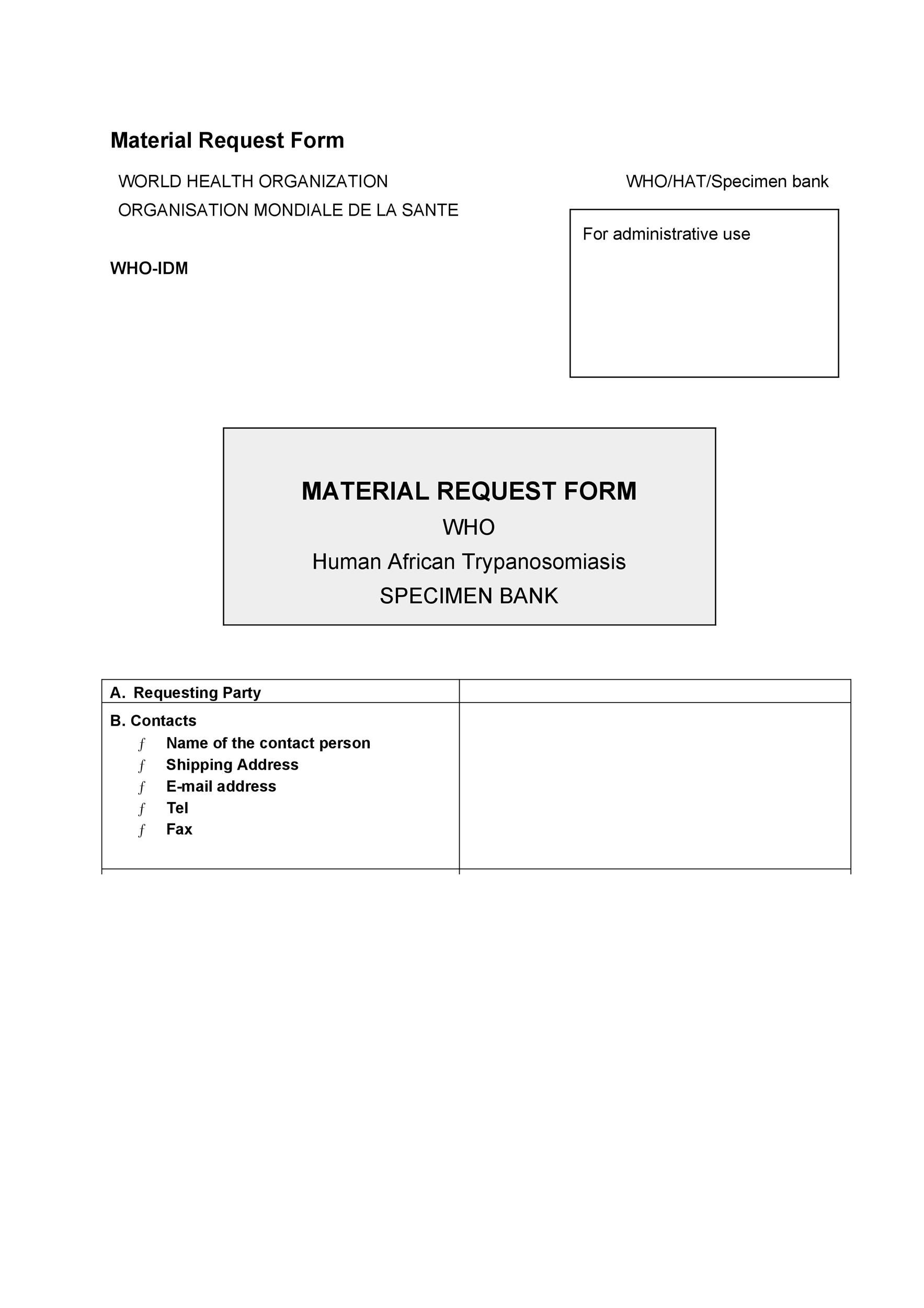 Free requisition form 45