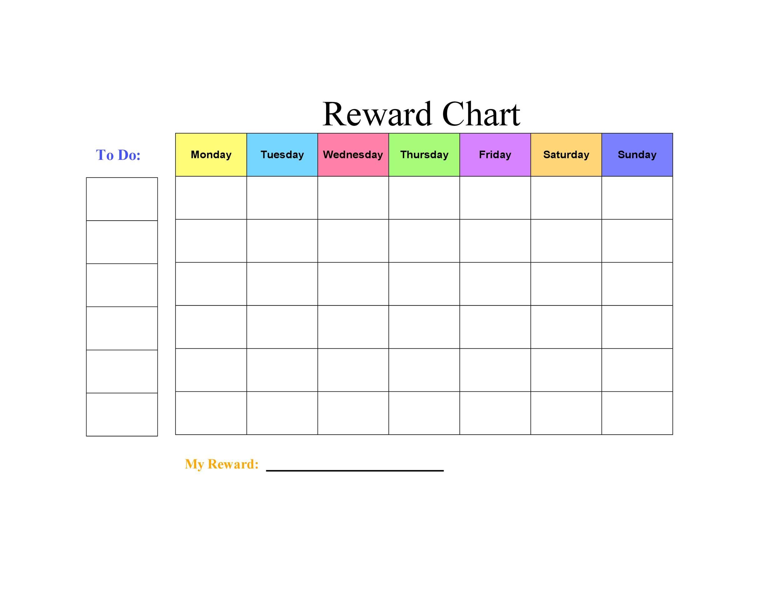 Free reward chart 12