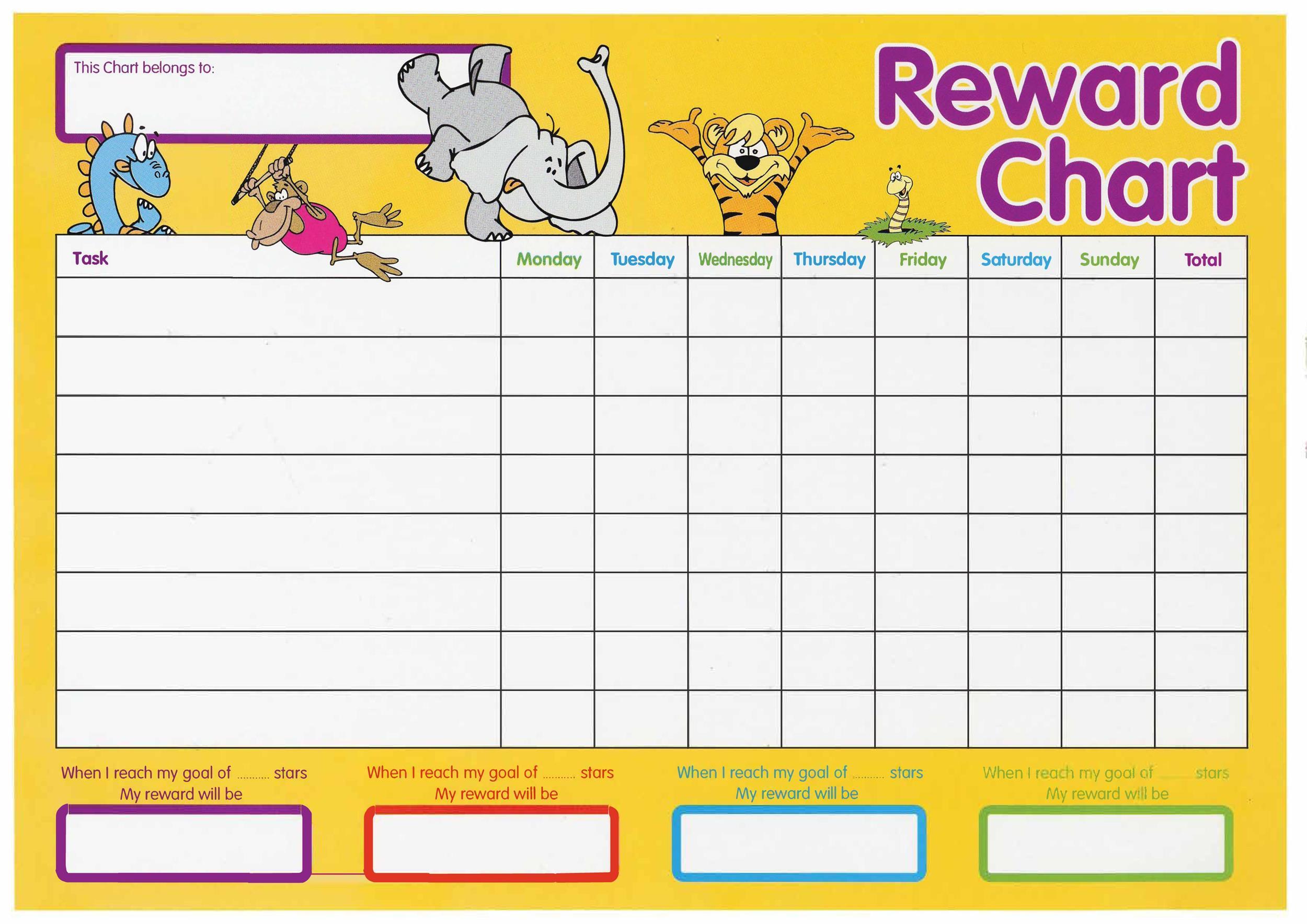 44 Printable Reward Charts For Kids Pdf Excel Word