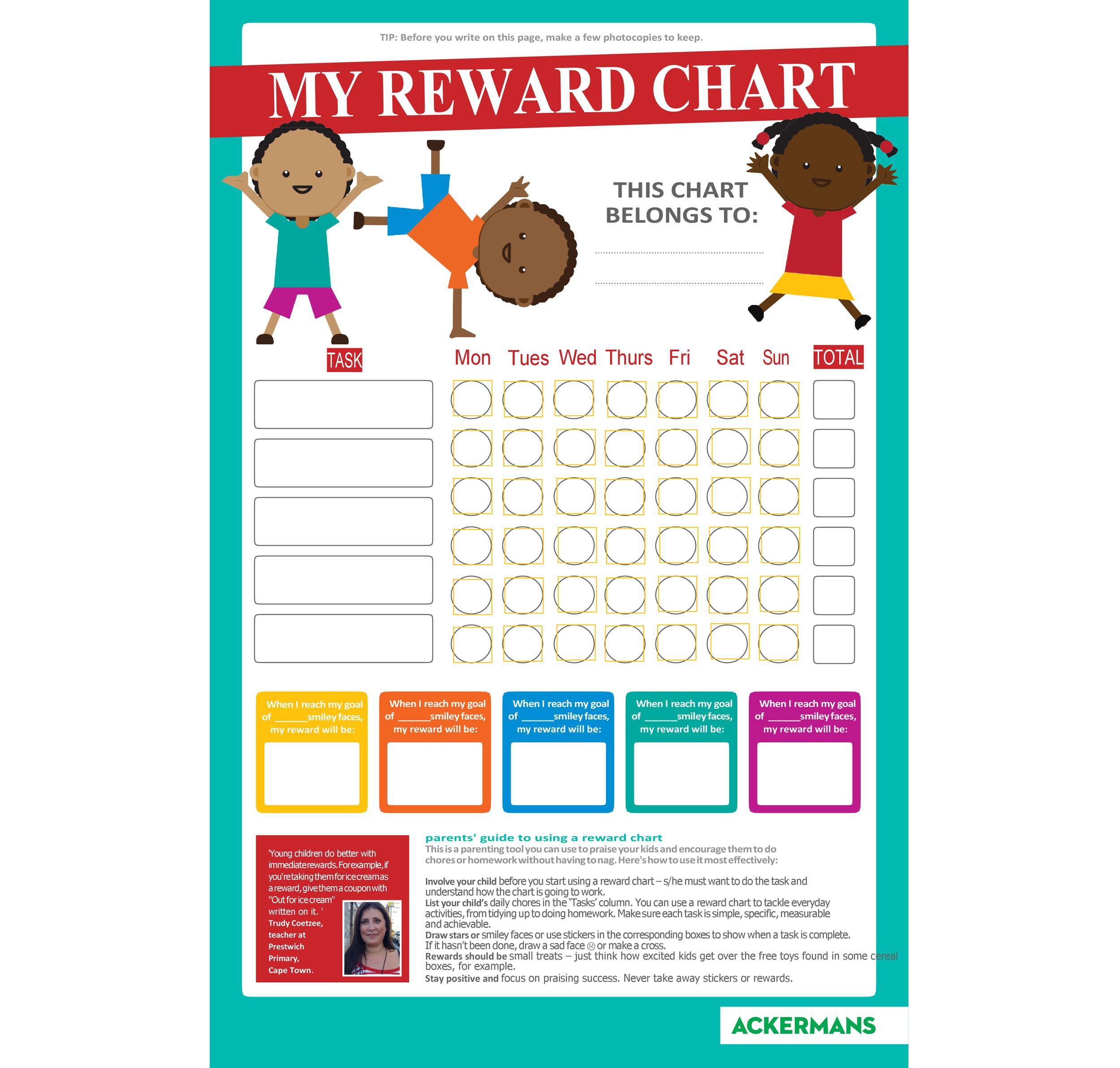 Free reward chart 30