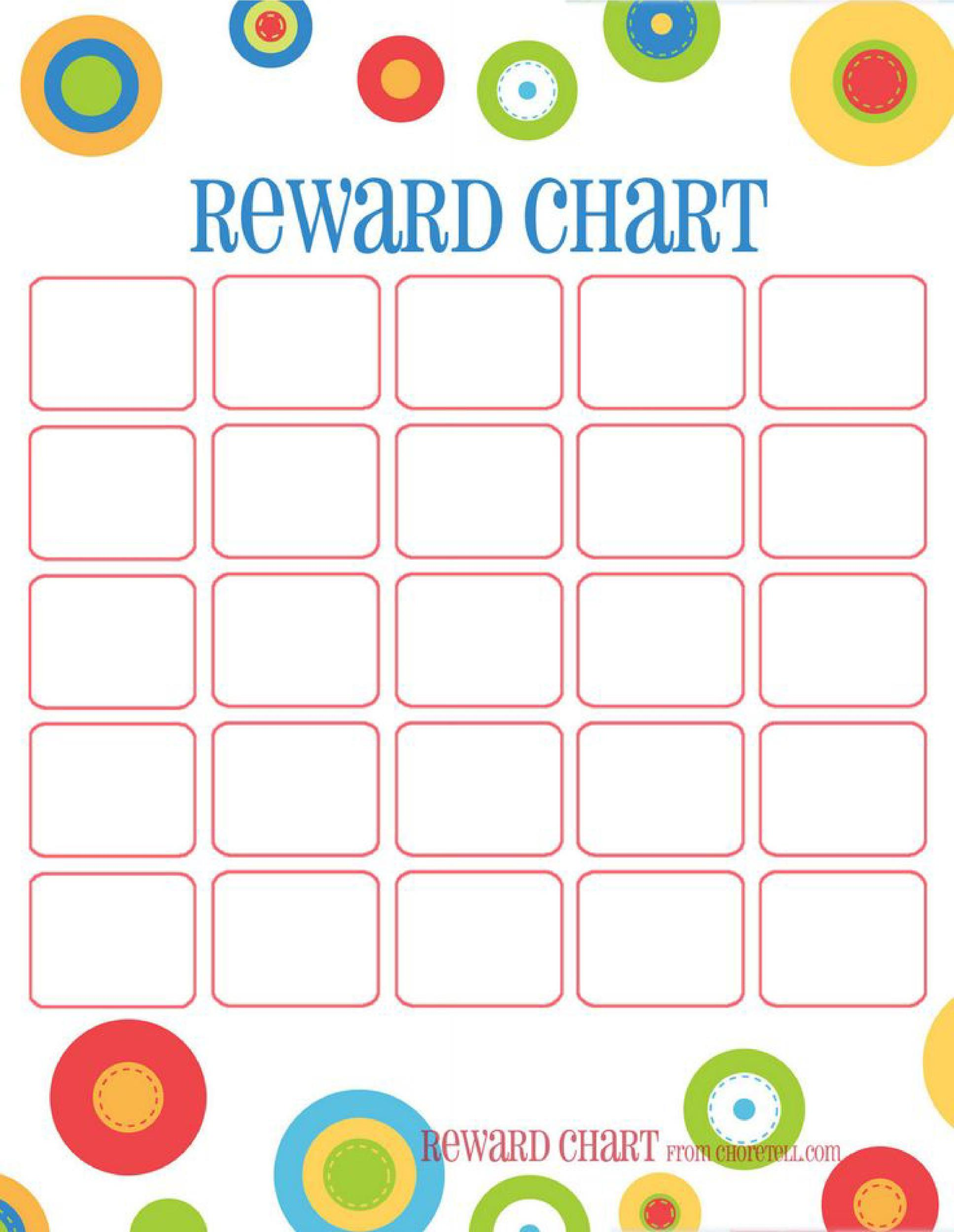 44 Printable Reward Charts for Kids (PDF, Excel & Word)