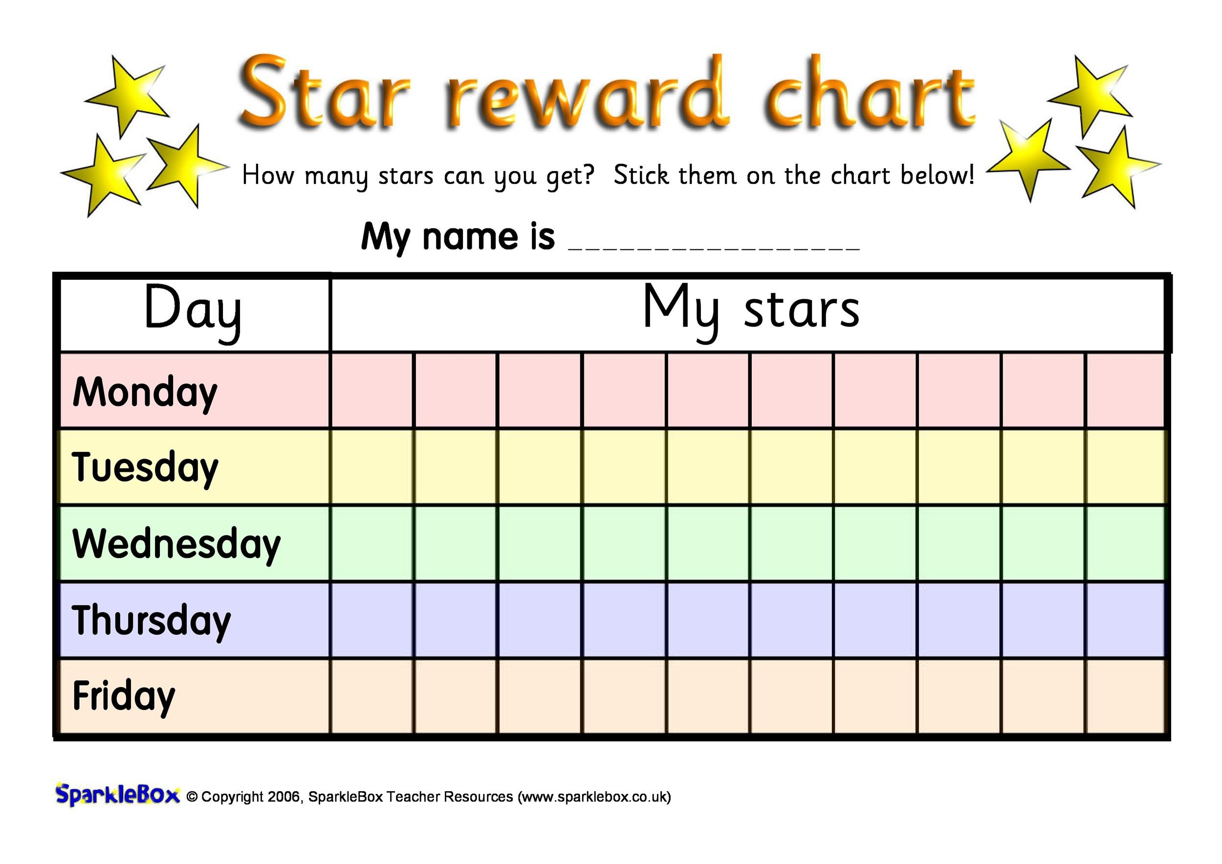 Free reward chart 34