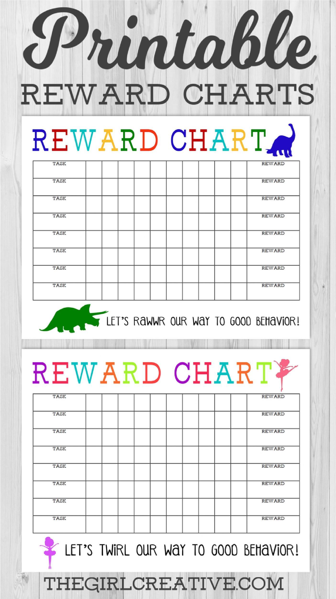 40 Printable Reward Charts for Kids (PDF, Excel & Word)