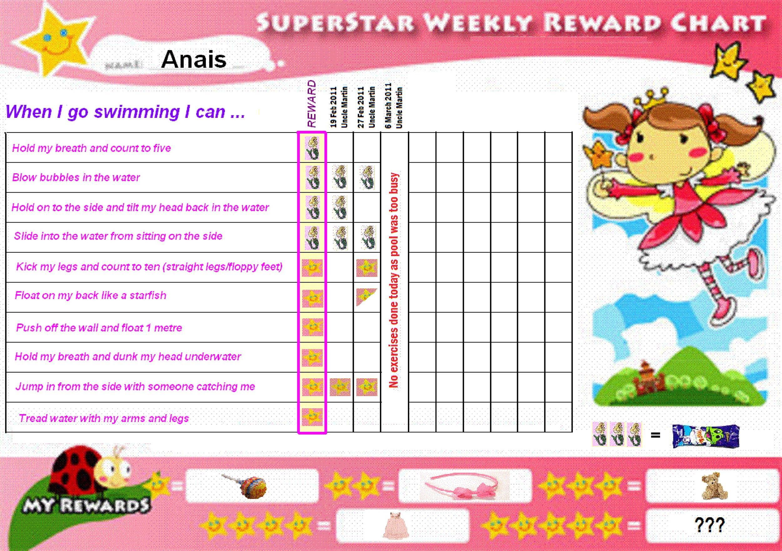 Free reward chart 40