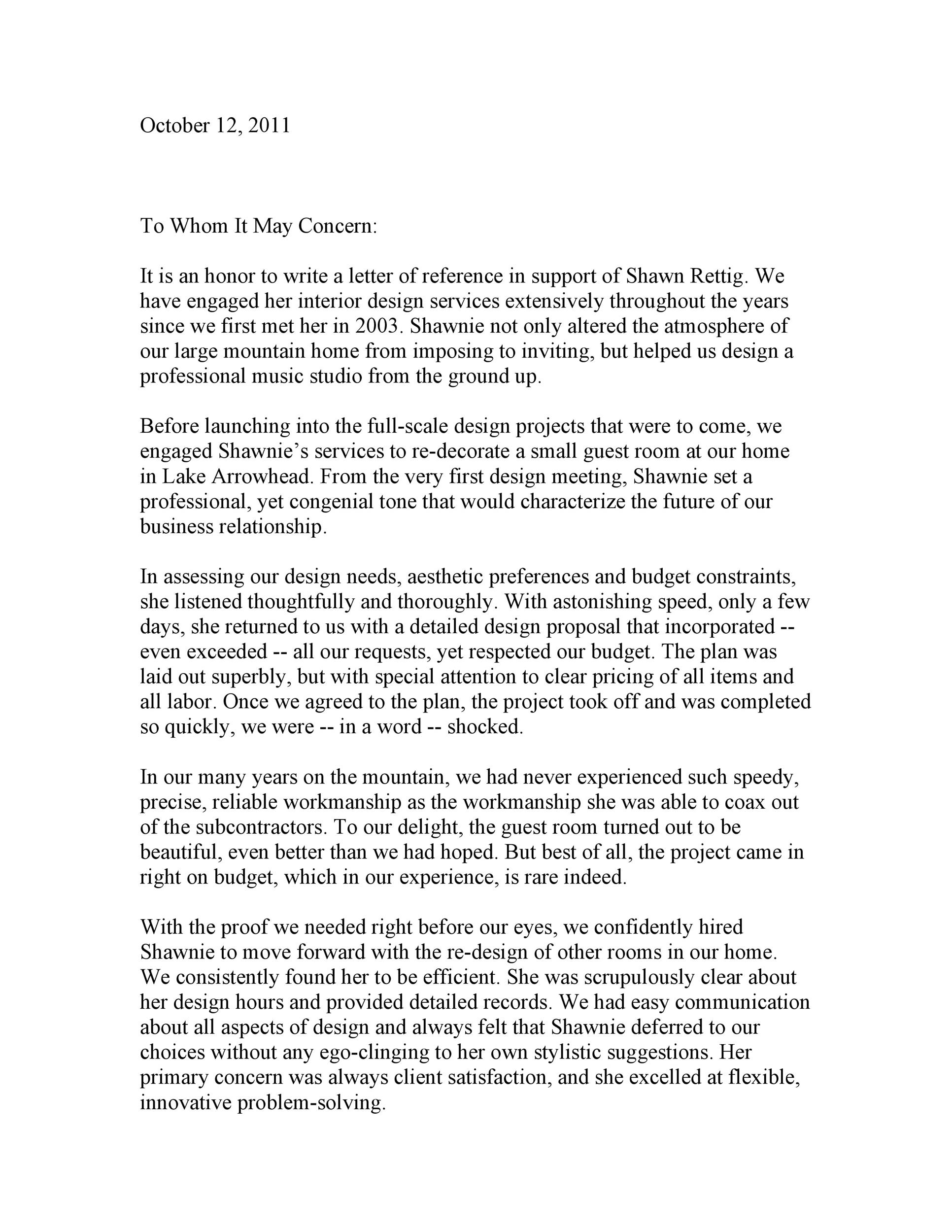 Free to whom it may concern letter 06
