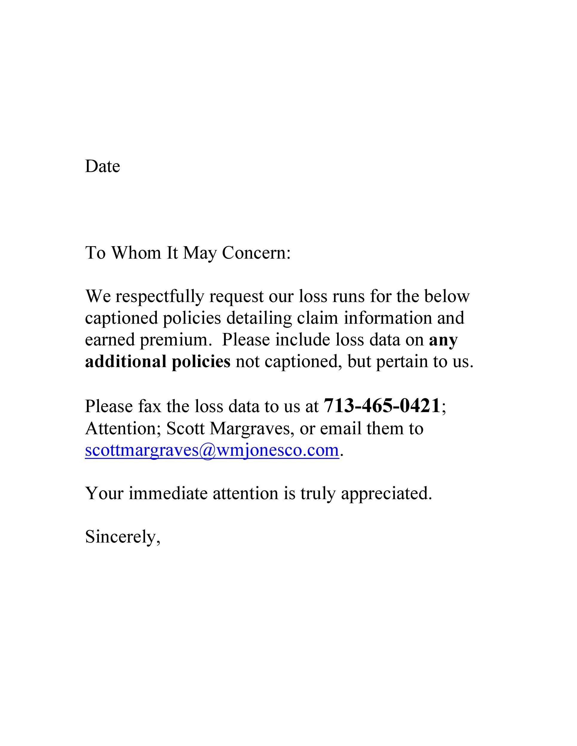 Free to whom it may concern letter 25