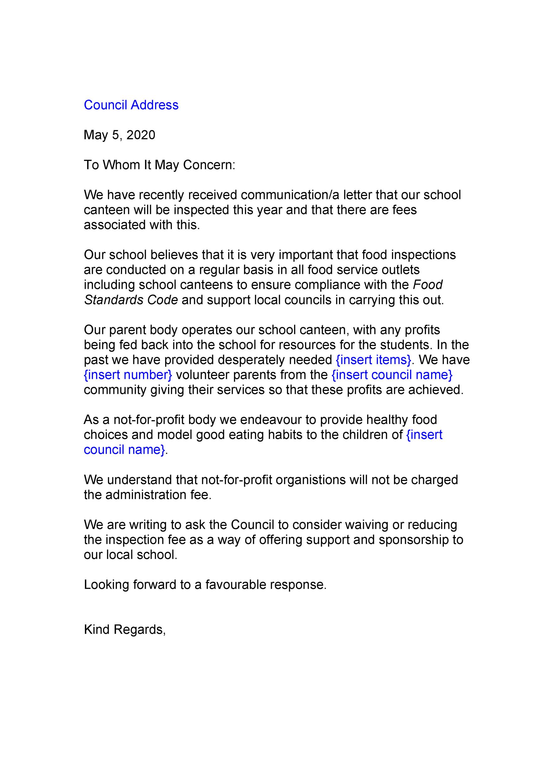 Free to whom it may concern letter 29
