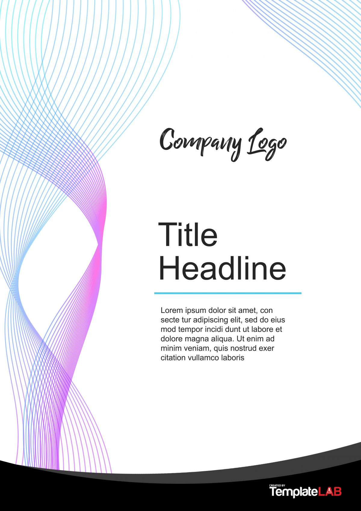 Free Cover Page Template 4 - TemplateLab