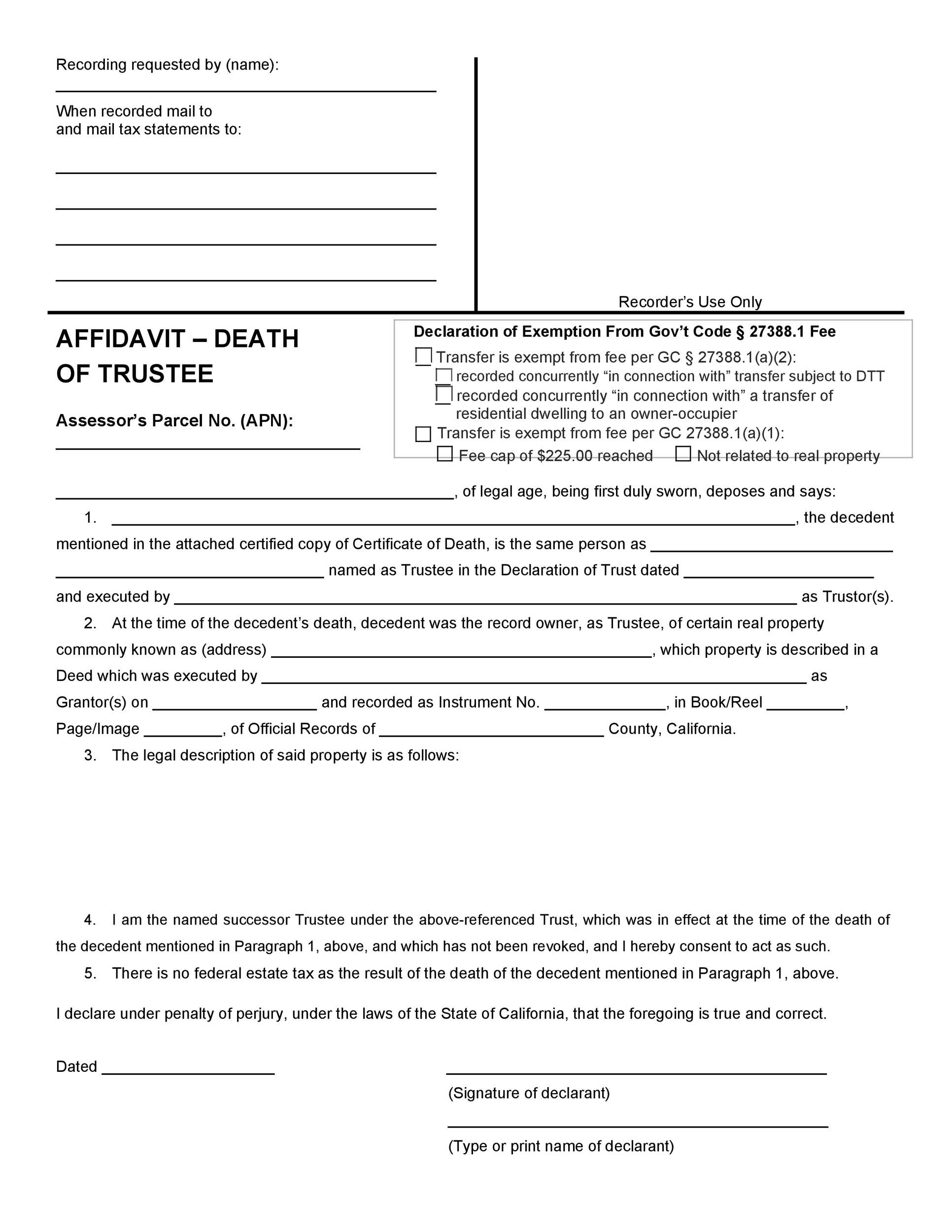 Free affidavit of death 02
