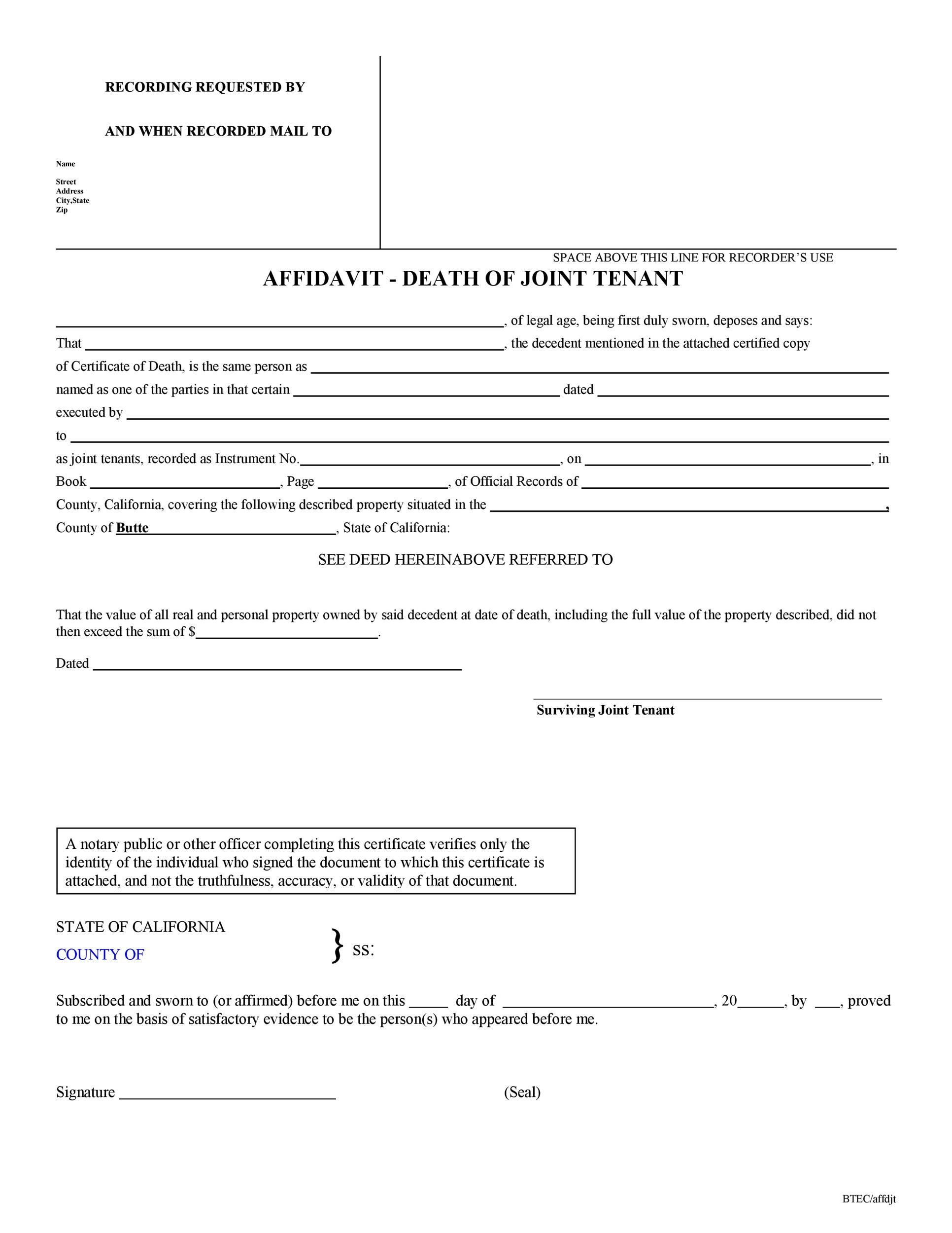 Free affidavit of death 10