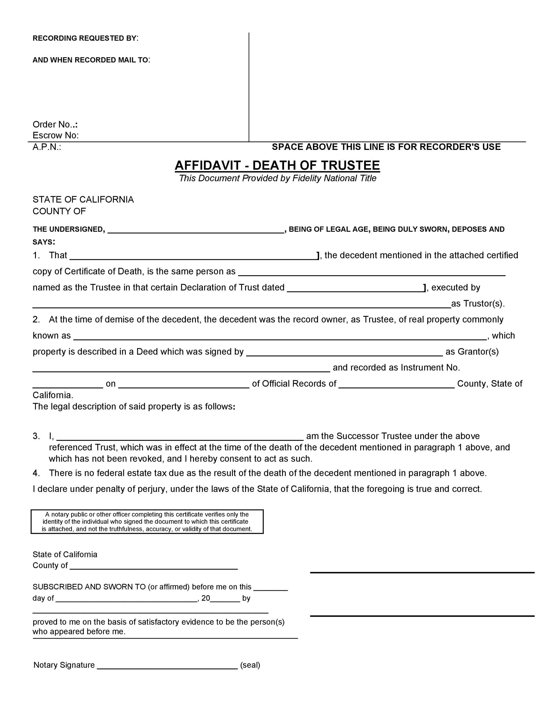 Free affidavit of death 31