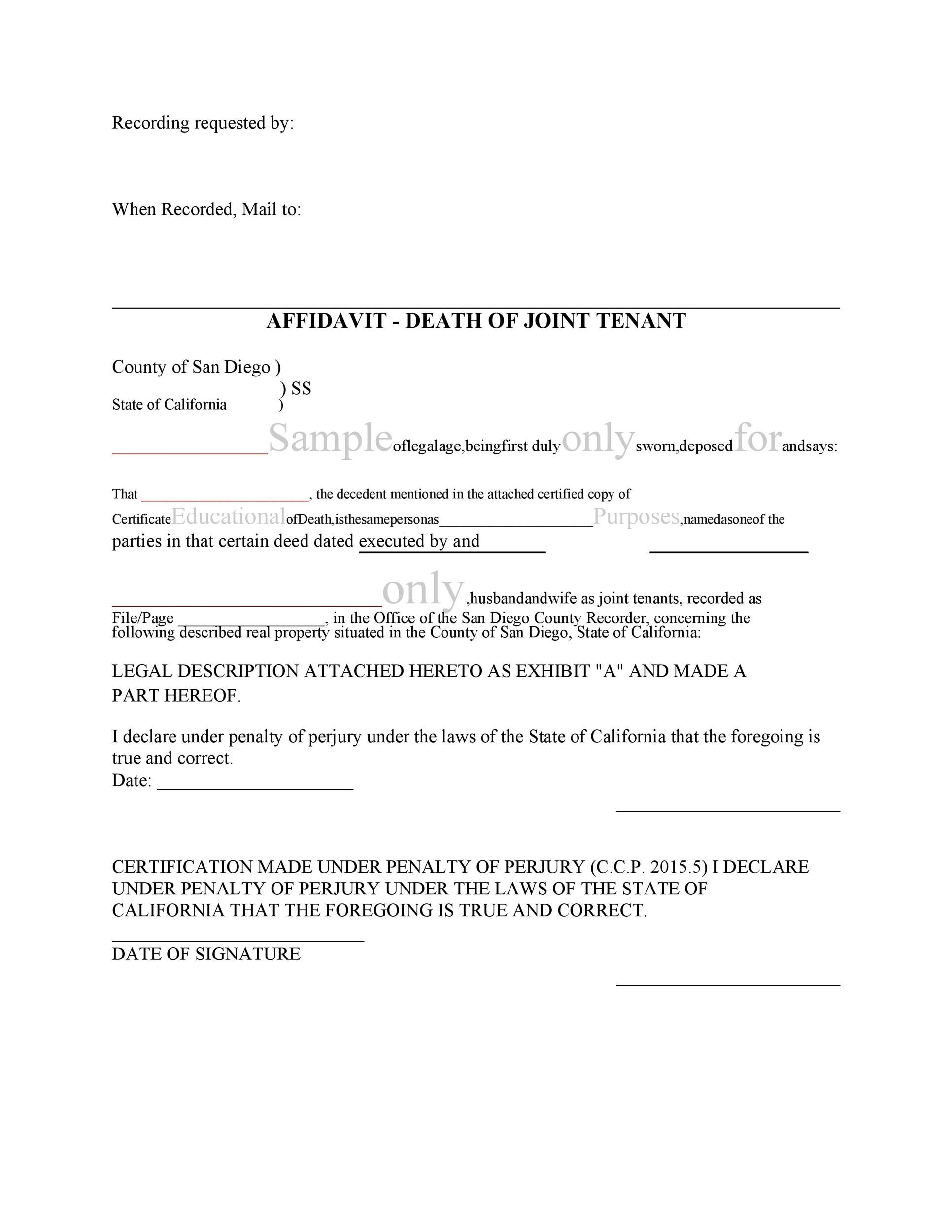 Free affidavit of death 35