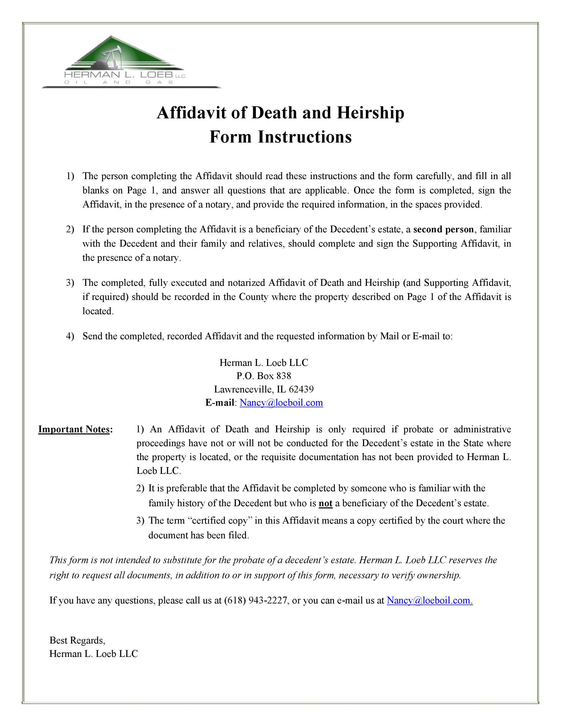 Free affidavit of death 47