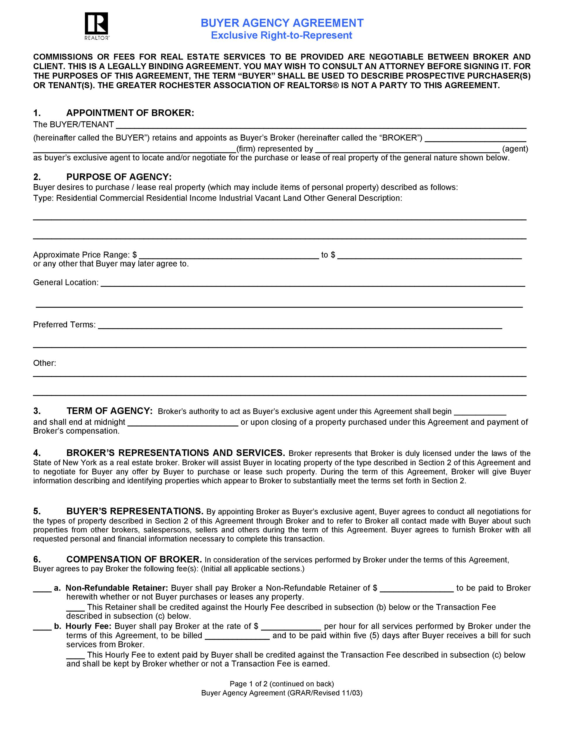 Free agency agreement 01