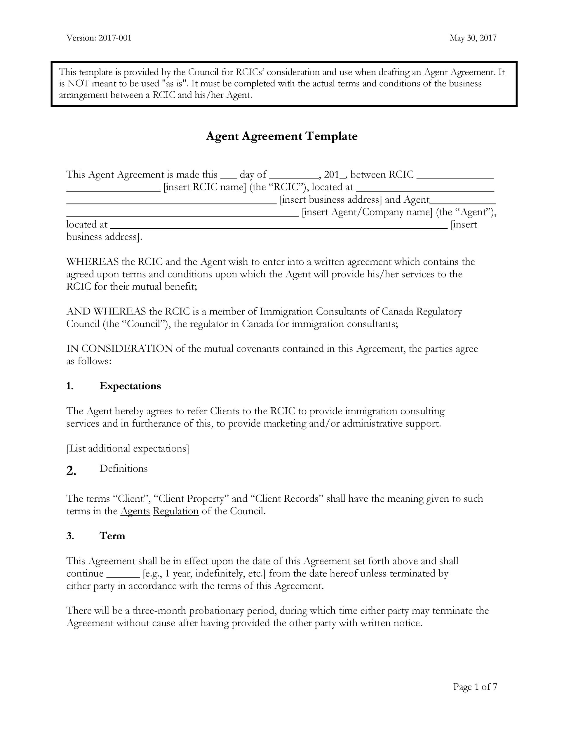 Exclusive Representation Agreement Template from templatelab.com