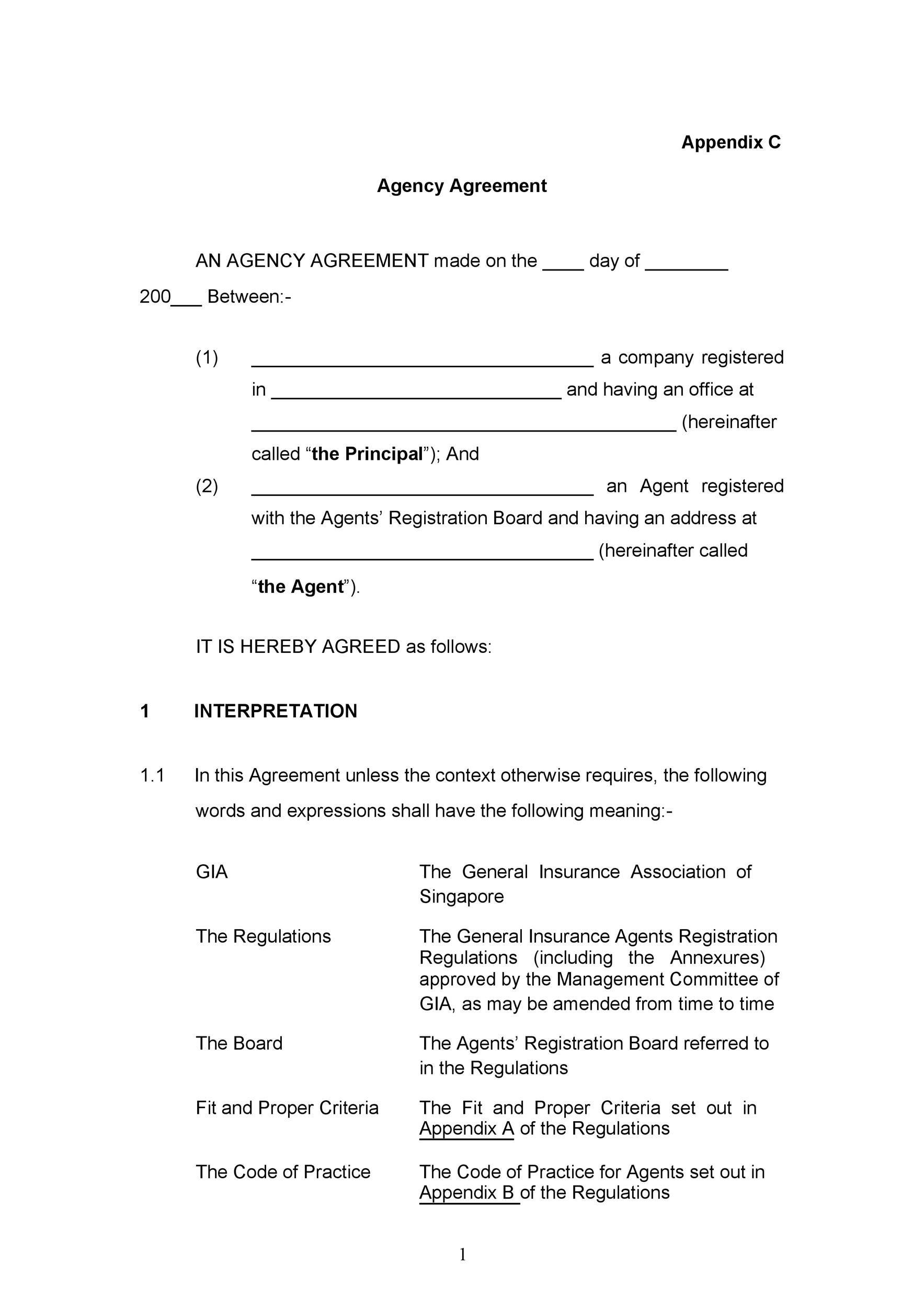 Free agency agreement 12