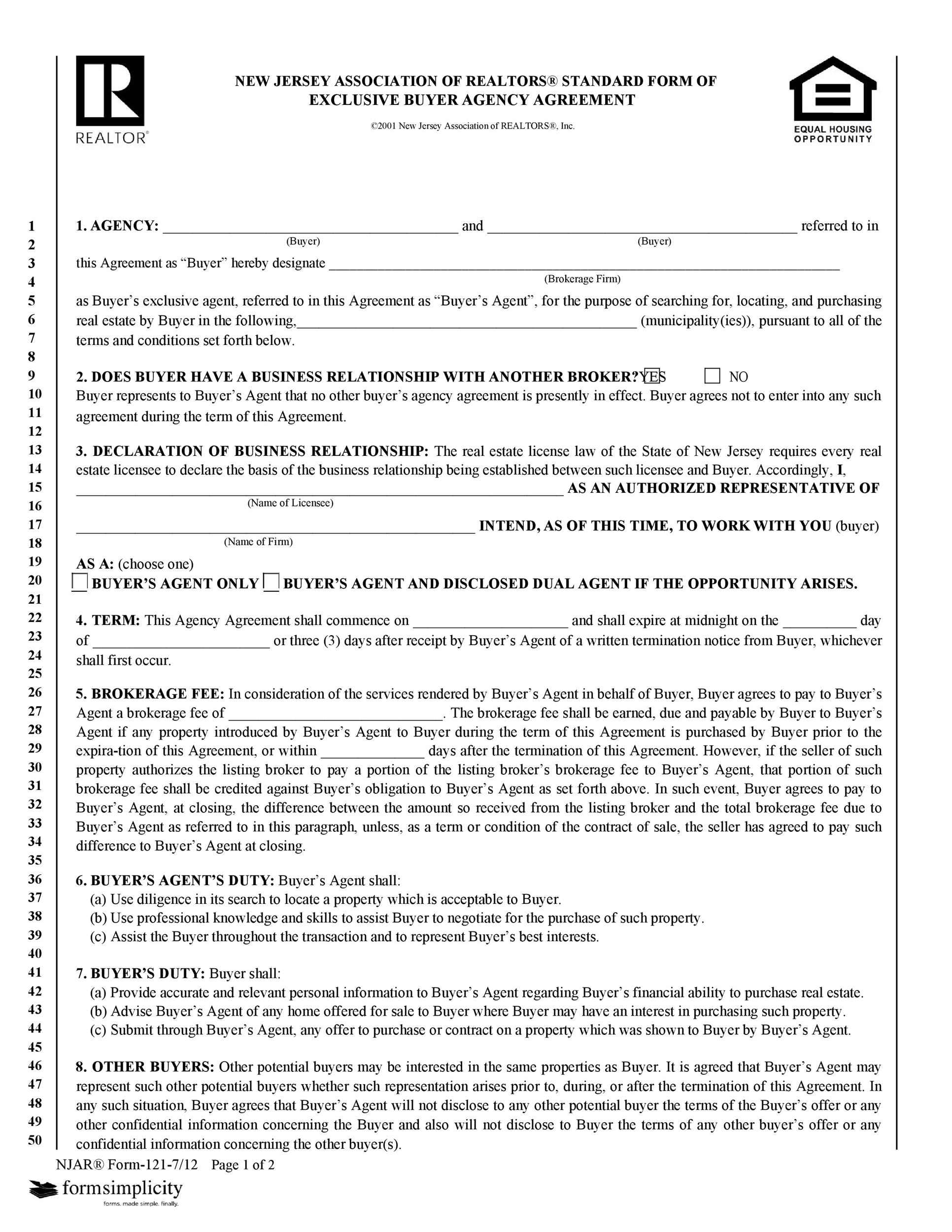 Free agency agreement 14