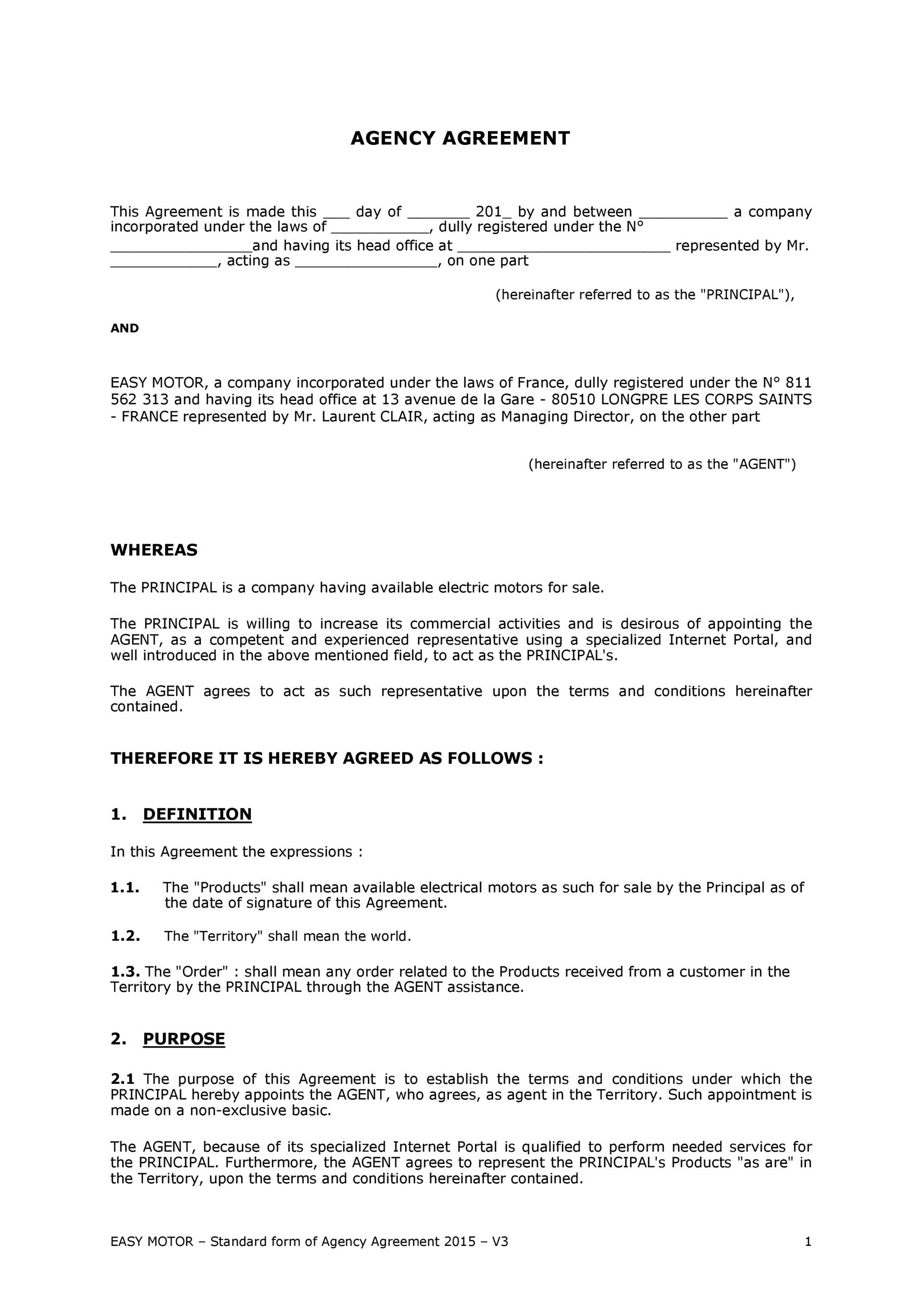 Free agency agreement 15